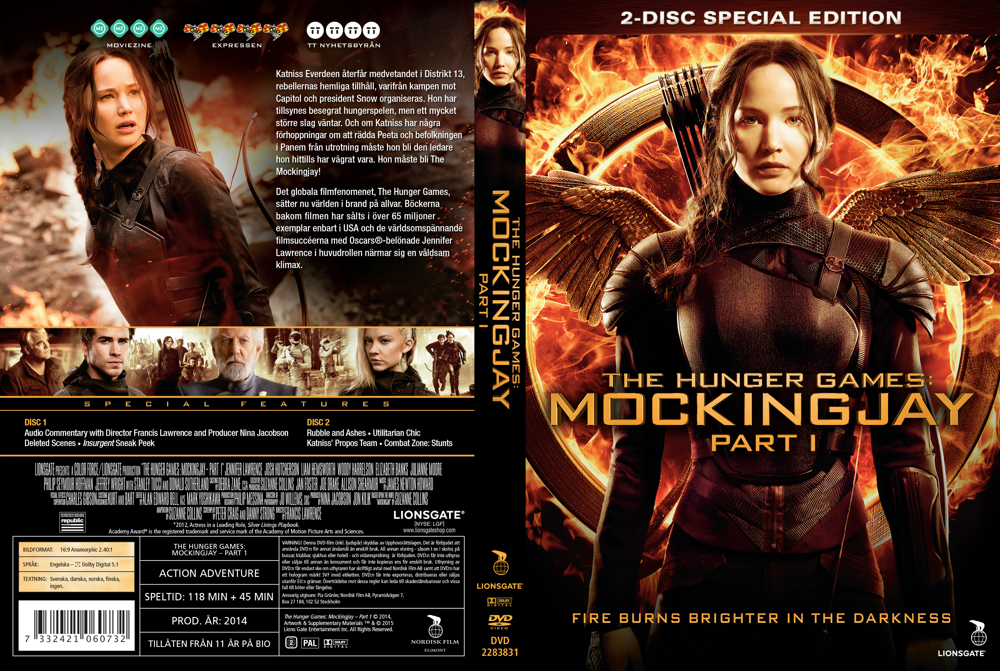 Hunger games dvd front cover