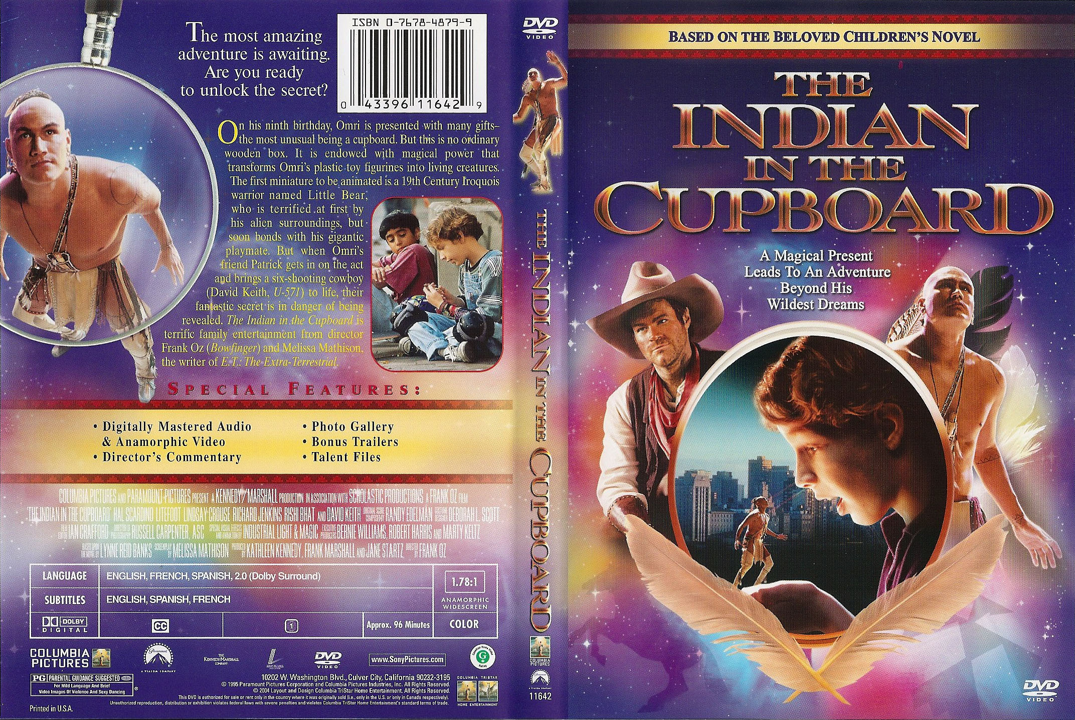 Covers Box Sk The Indian In The Cupboard 1995 High Quality