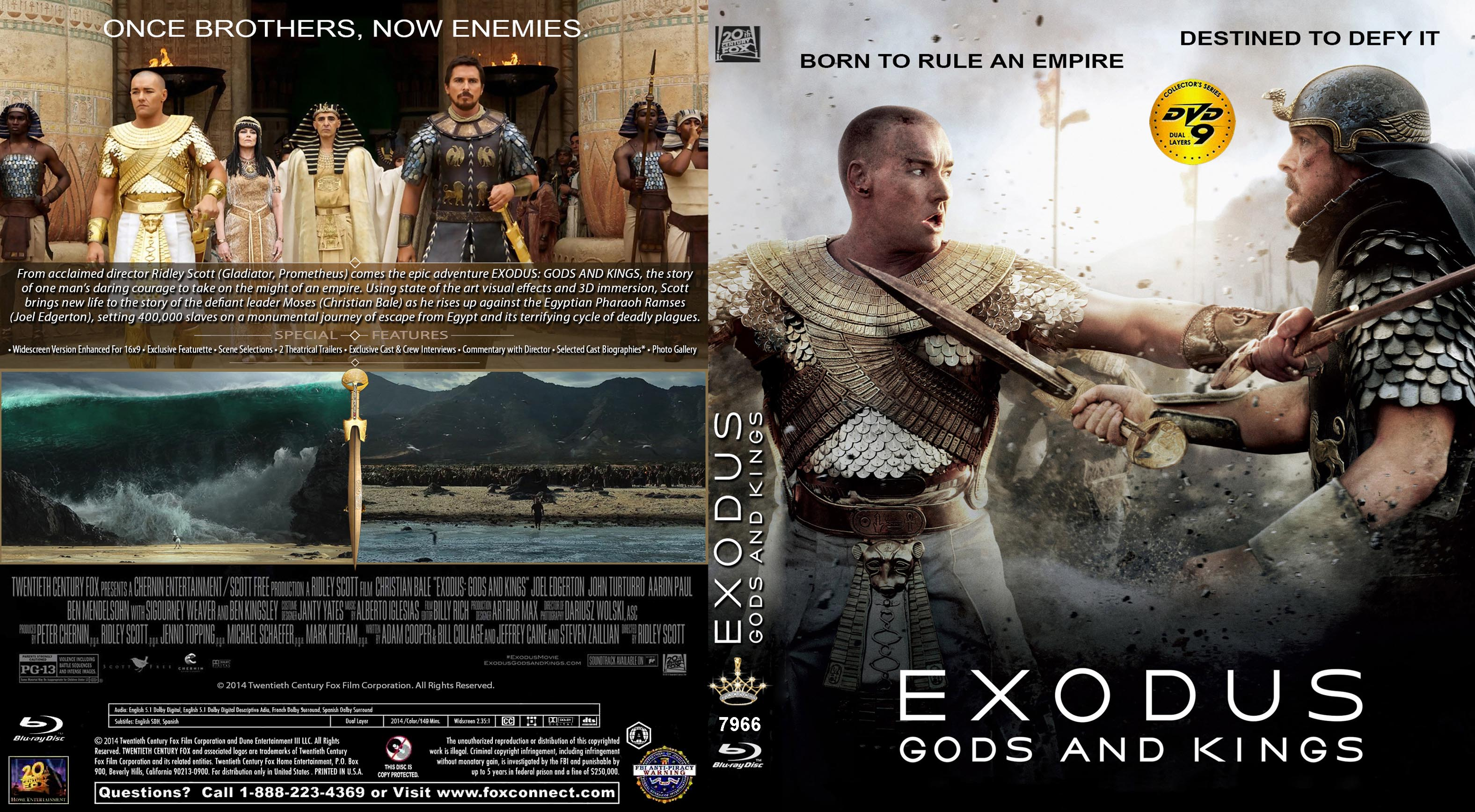 Covers Box Sk Exodus Gods And Kings 2014 High Quality Dvd Blueray Movie