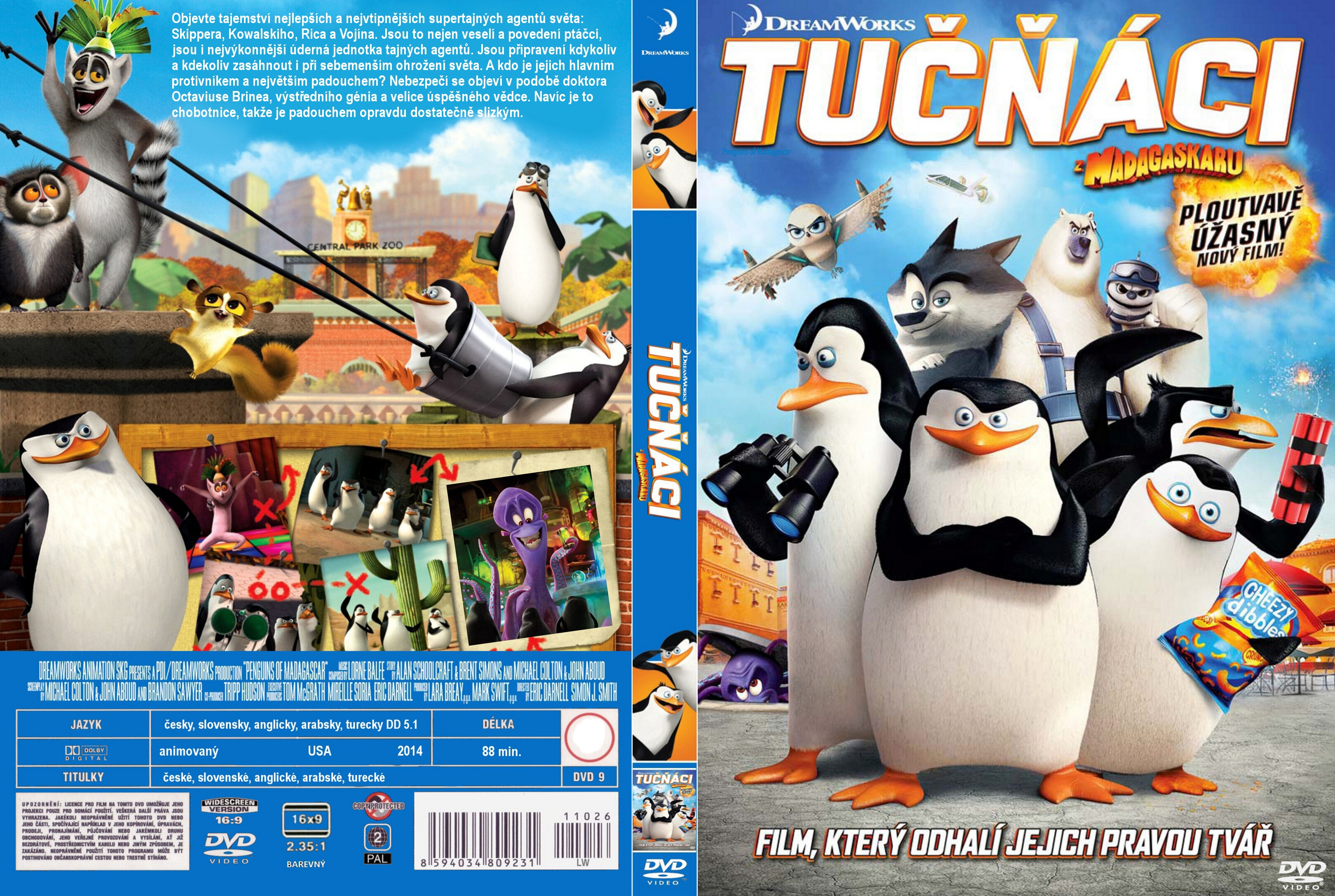Covers Box Sk Penguins Of Madagascar 2014 High Quality Dvd Blueray Movie