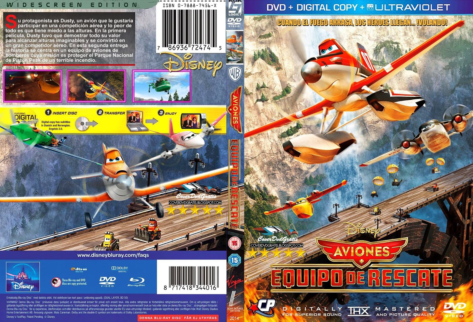 COVERS.BOX.SK ::: Planes; Fire & Rescue [2014] - high ...