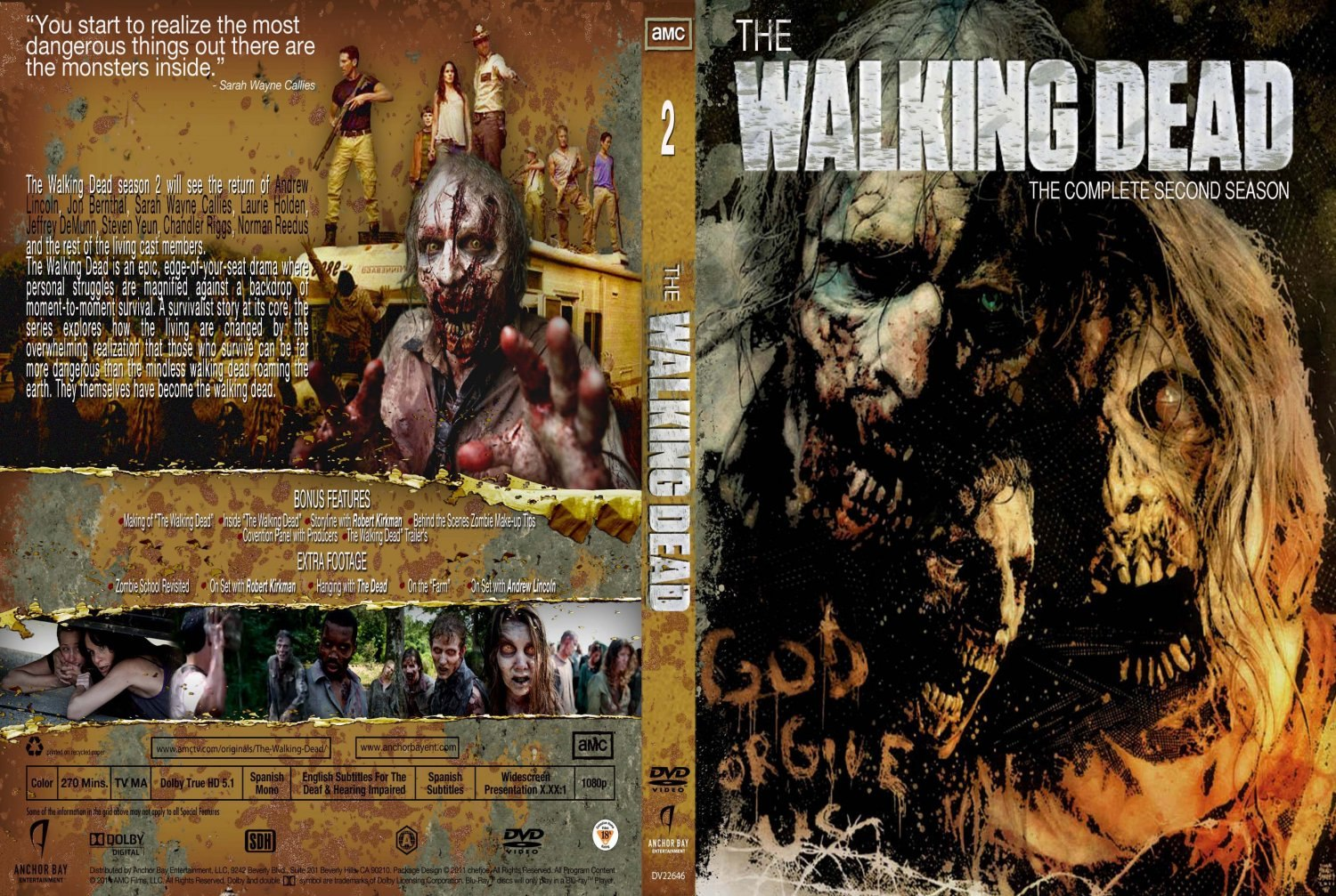 COVERS BOX SK ::: The Walking Dead S02 [2011] - high quality DVD