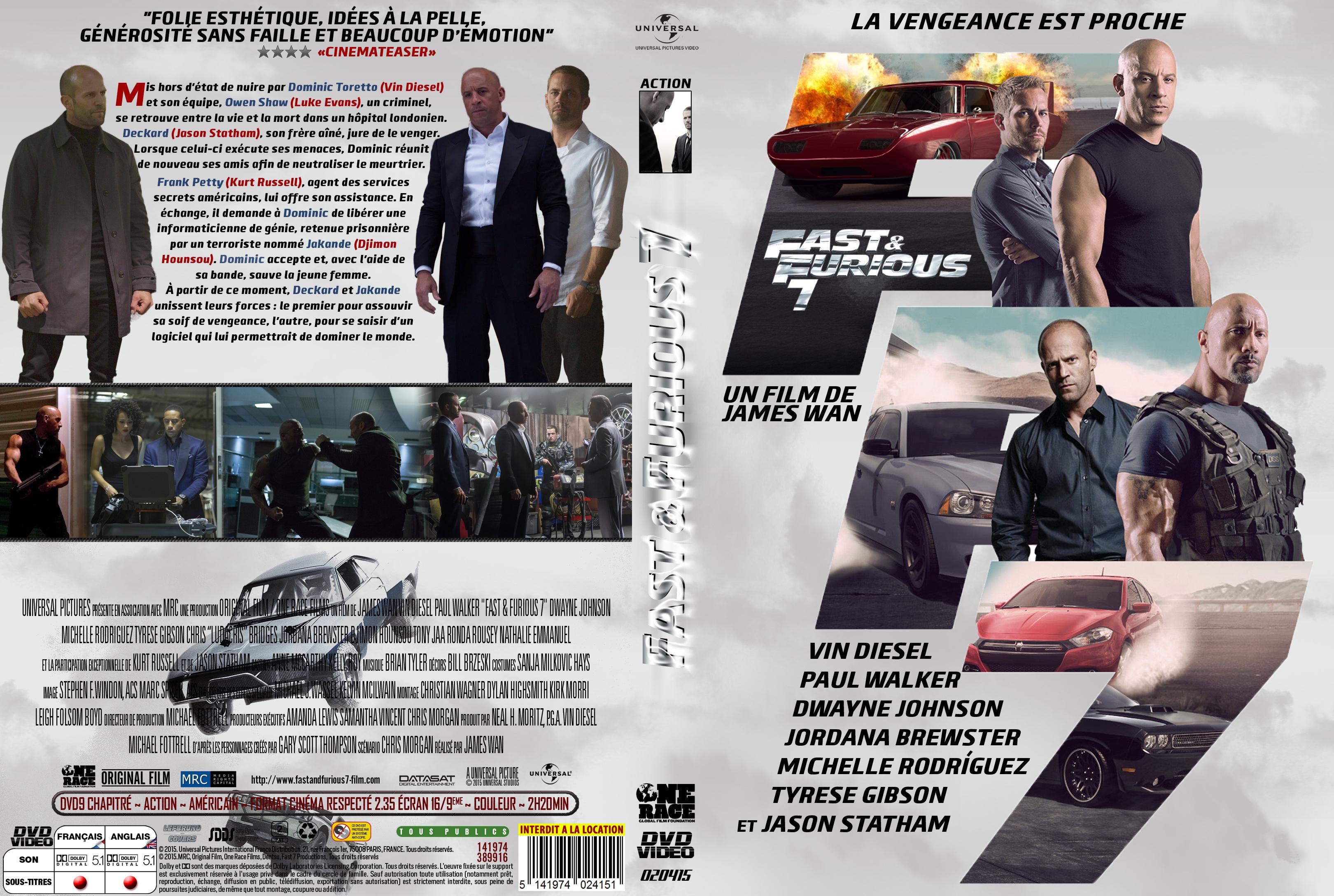 furious 7 2015 dvd