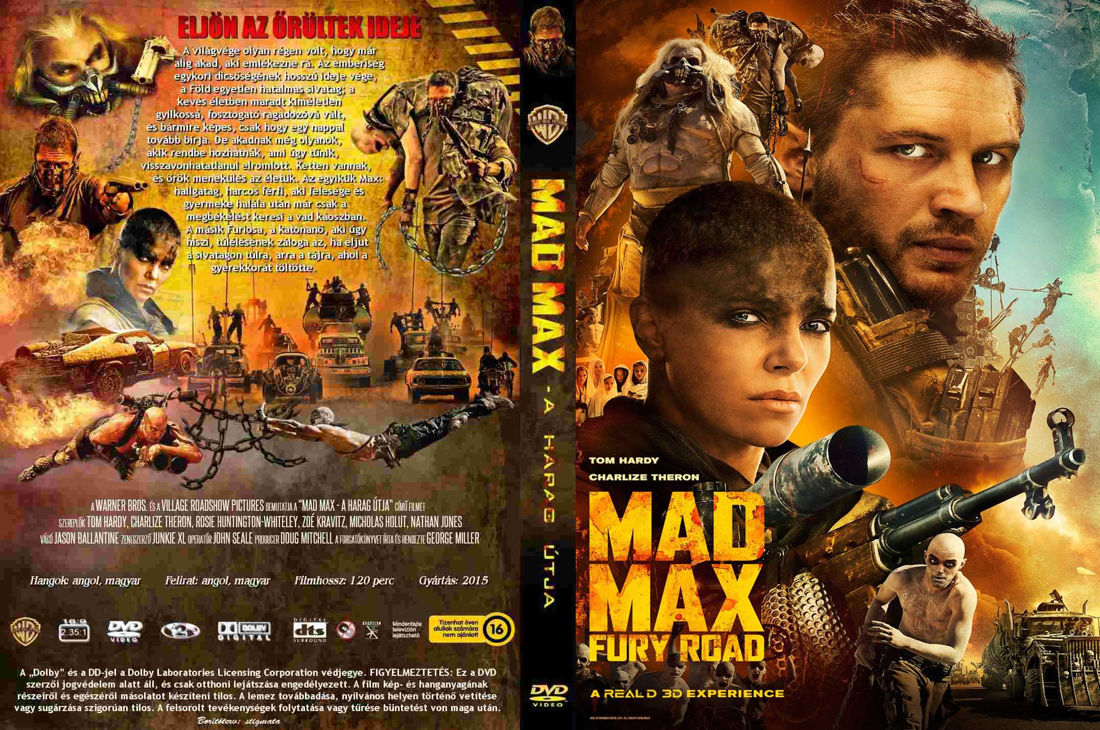 Covers Box Sk Mad Max Fury Road 2015 High Quality Dvd Blueray Movie