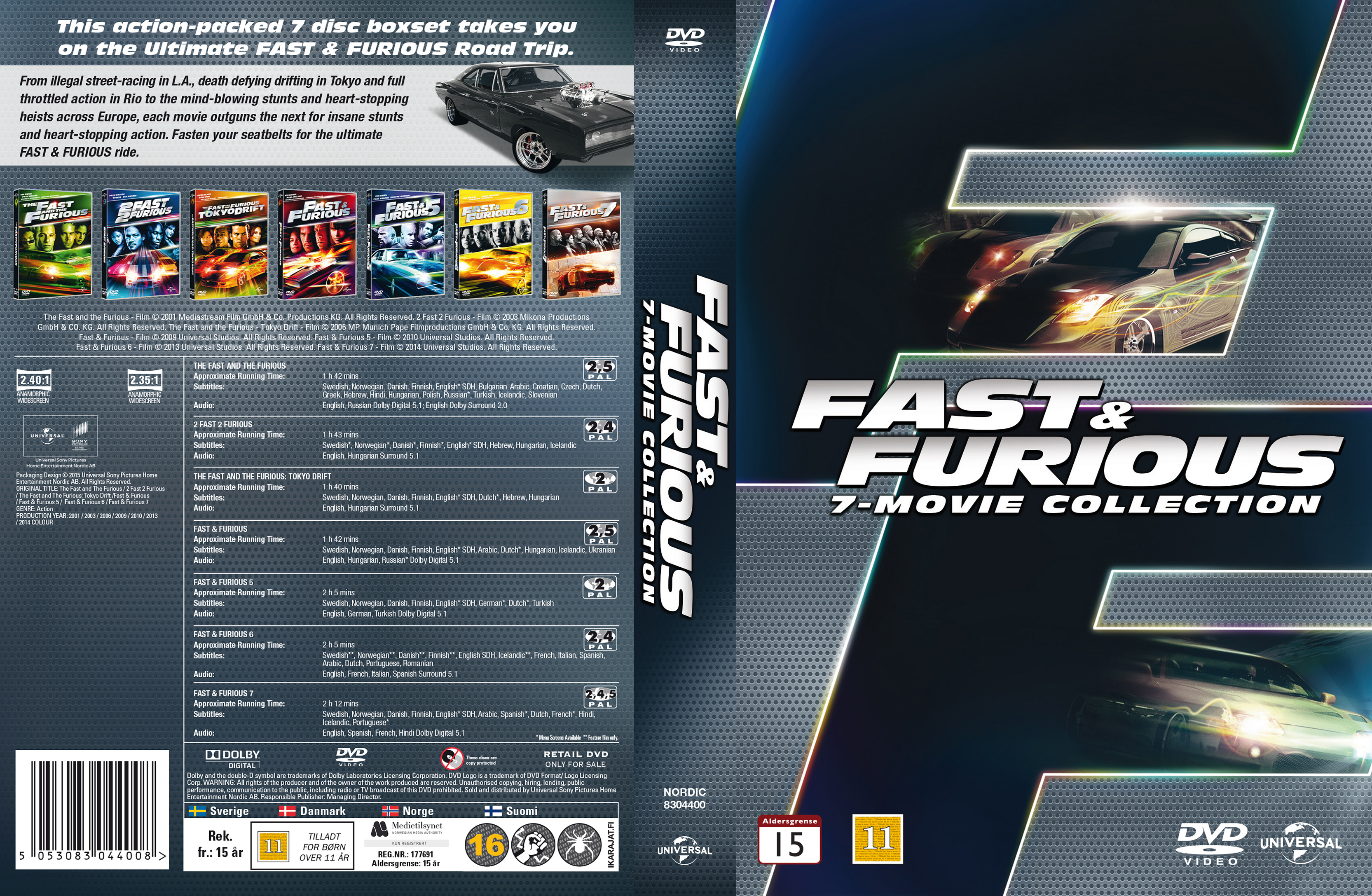 COVERS.BOX.SK ::: Fast & Furious - 7-Movie Collection (Nordic) - high ...