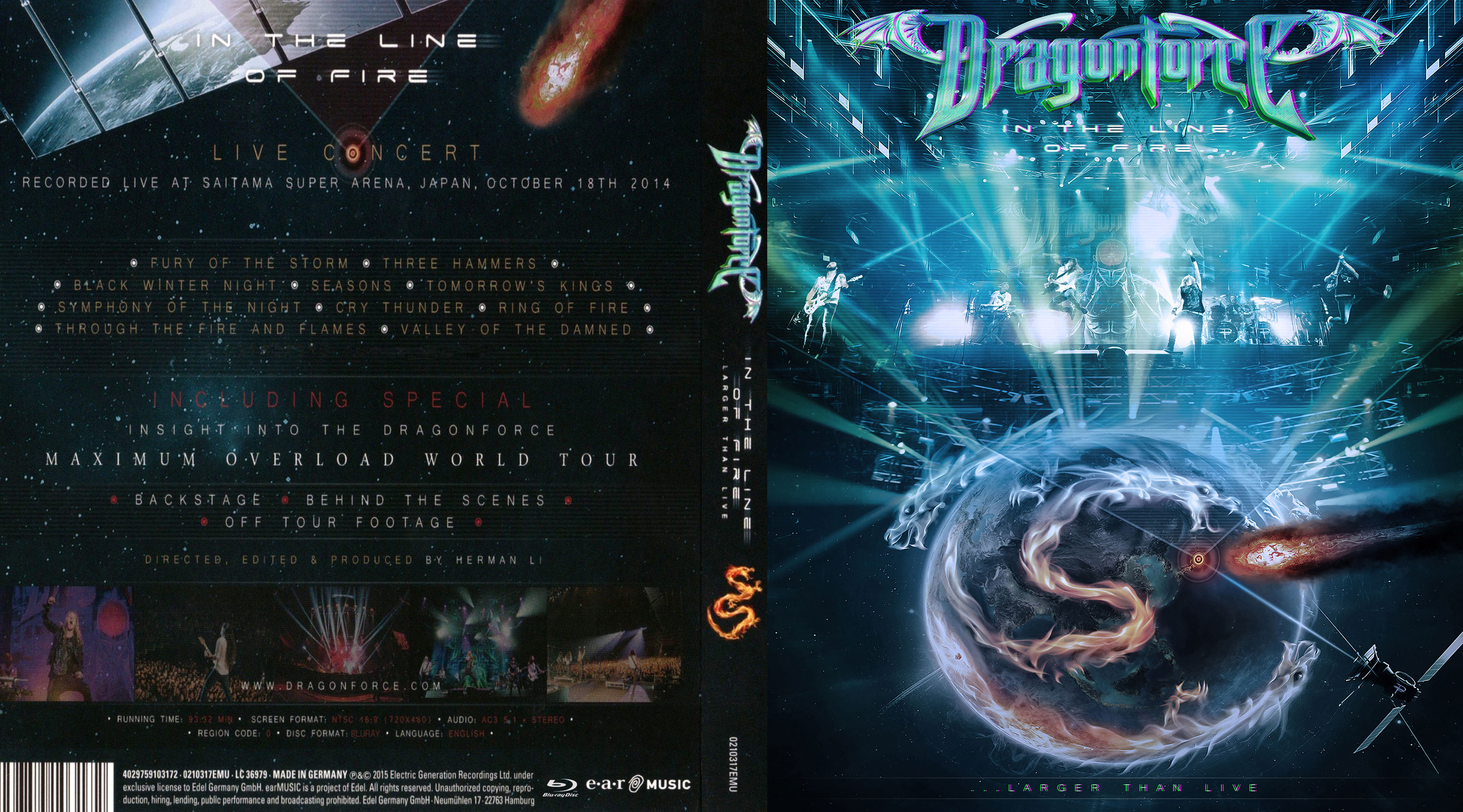 Dragonforce - In The Line Of Fire Blu Ray