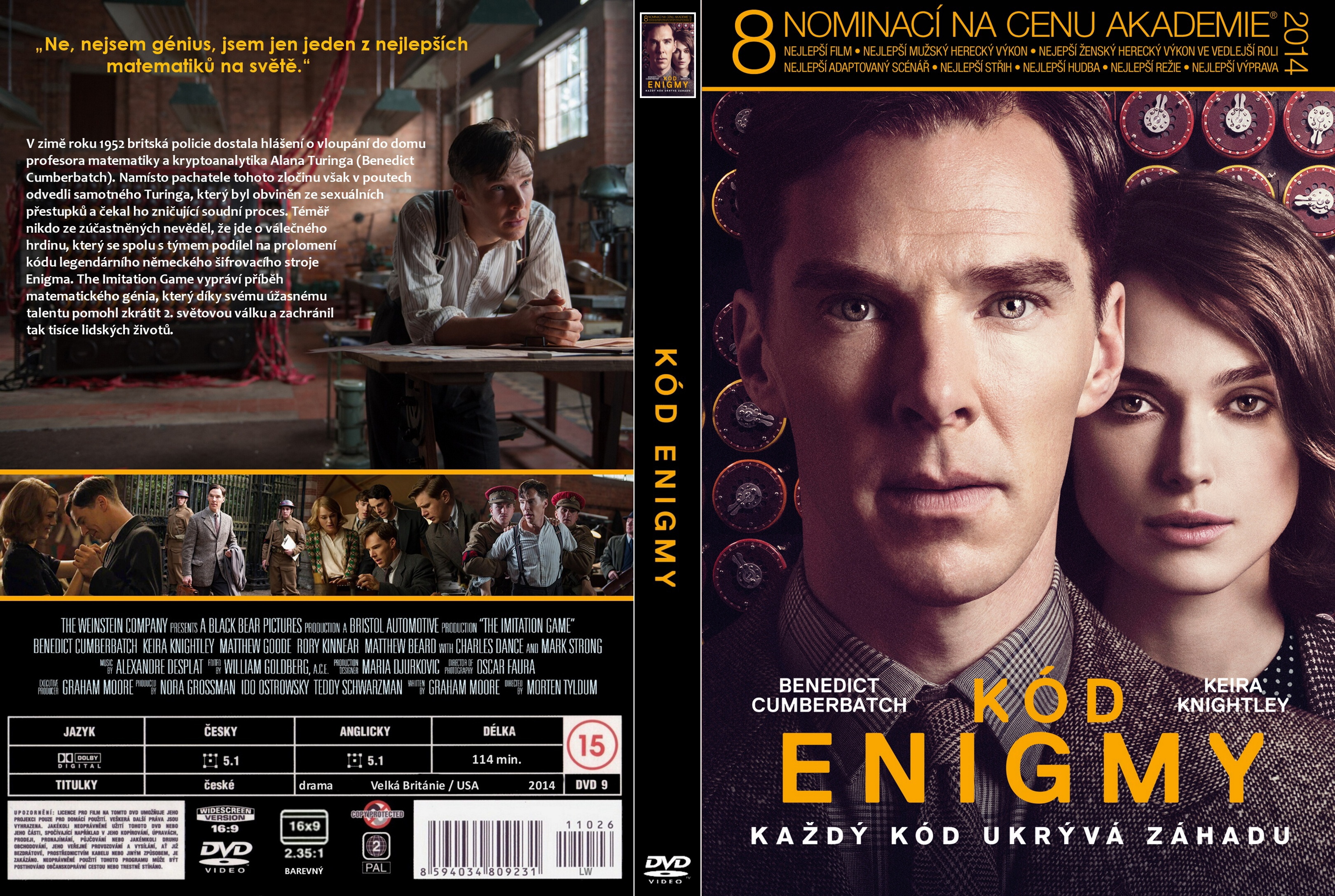 Covers Box Sk The Imitation Game 2014 High Quality Dvd Blueray Movie