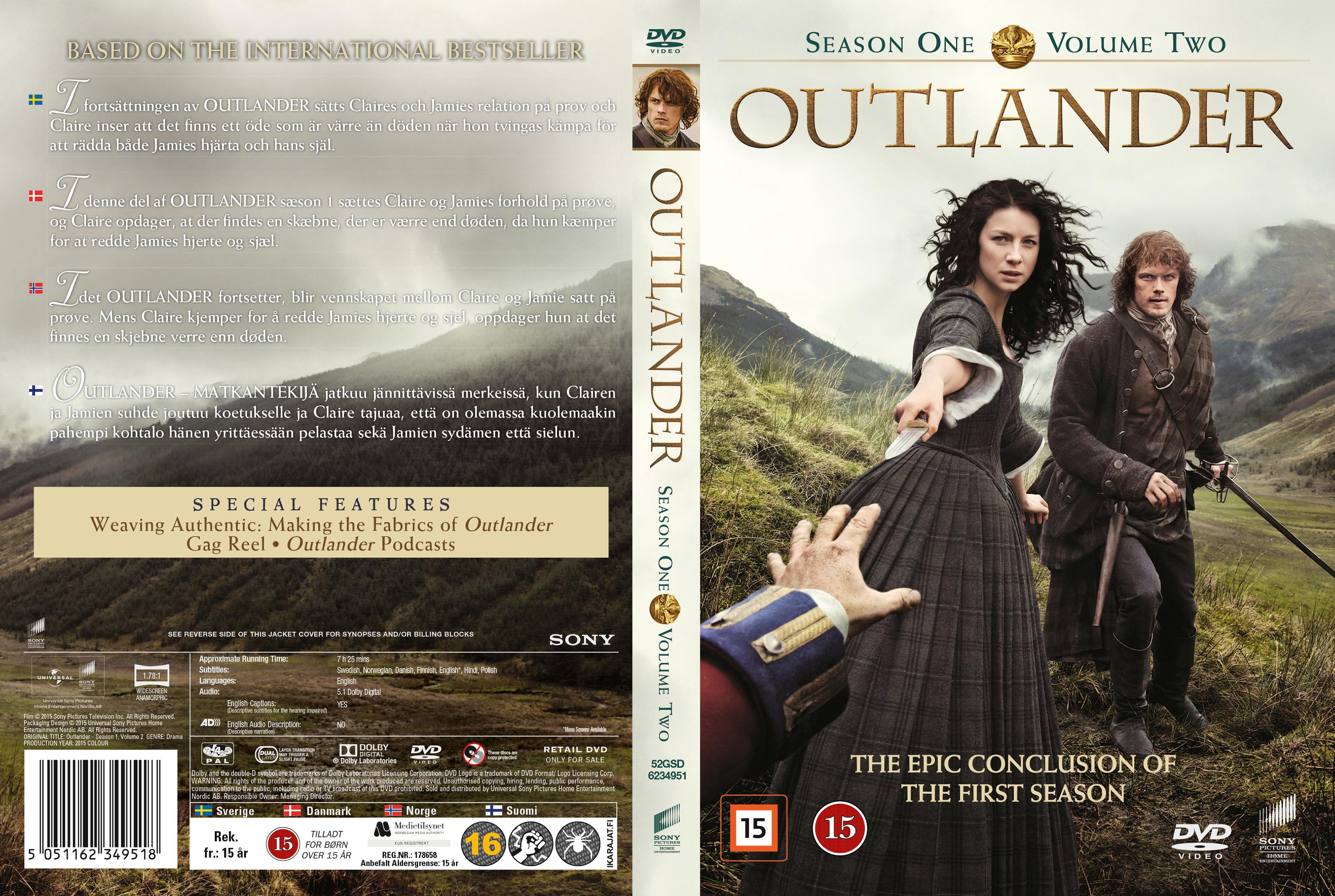 COVERS.BOX.SK ::: Outlander - Season 1 Vol. 2 (Nordic