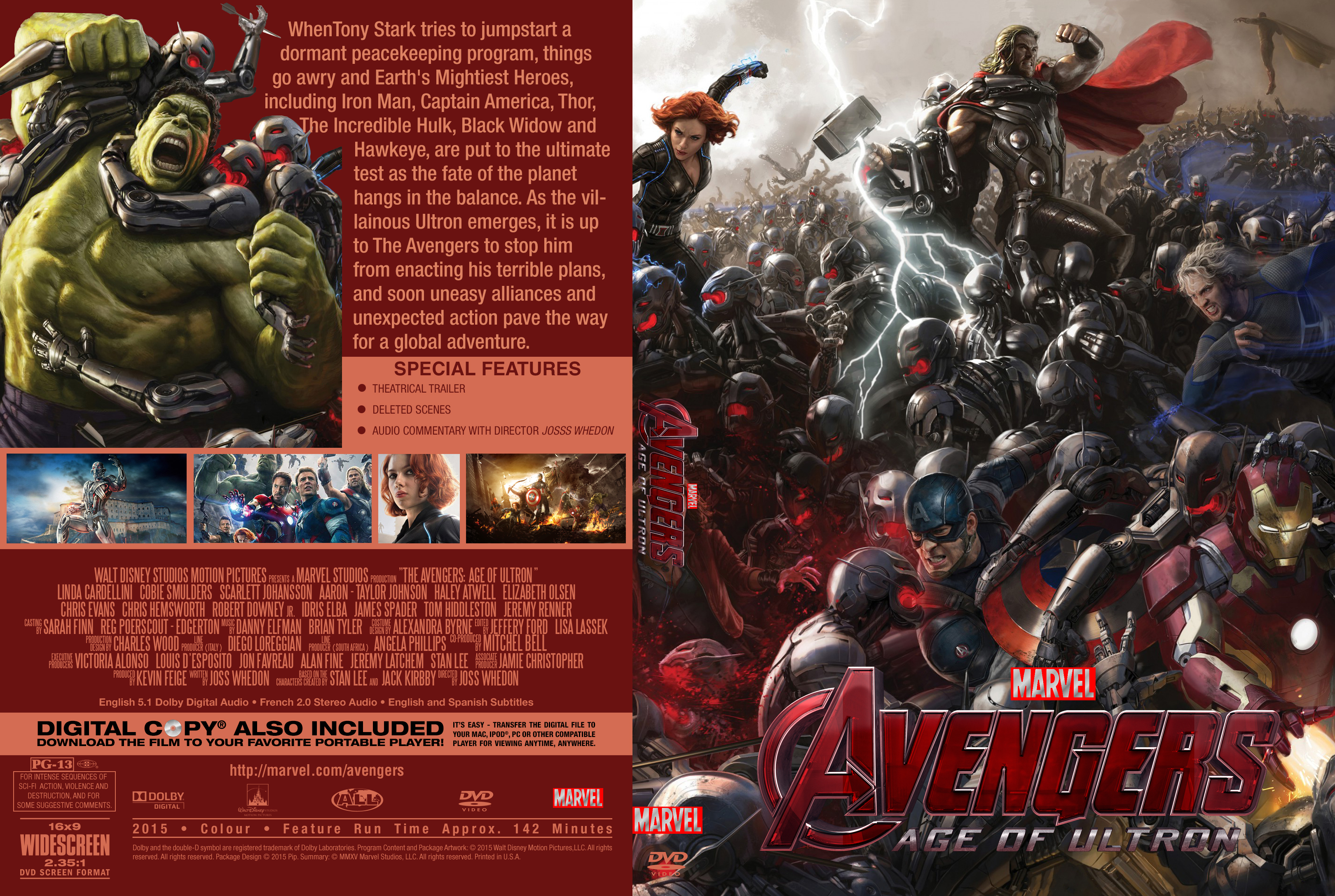 Covers Box Sk Avengers Age Of Ultron 2015 High Quality Dvd Blueray Movie
