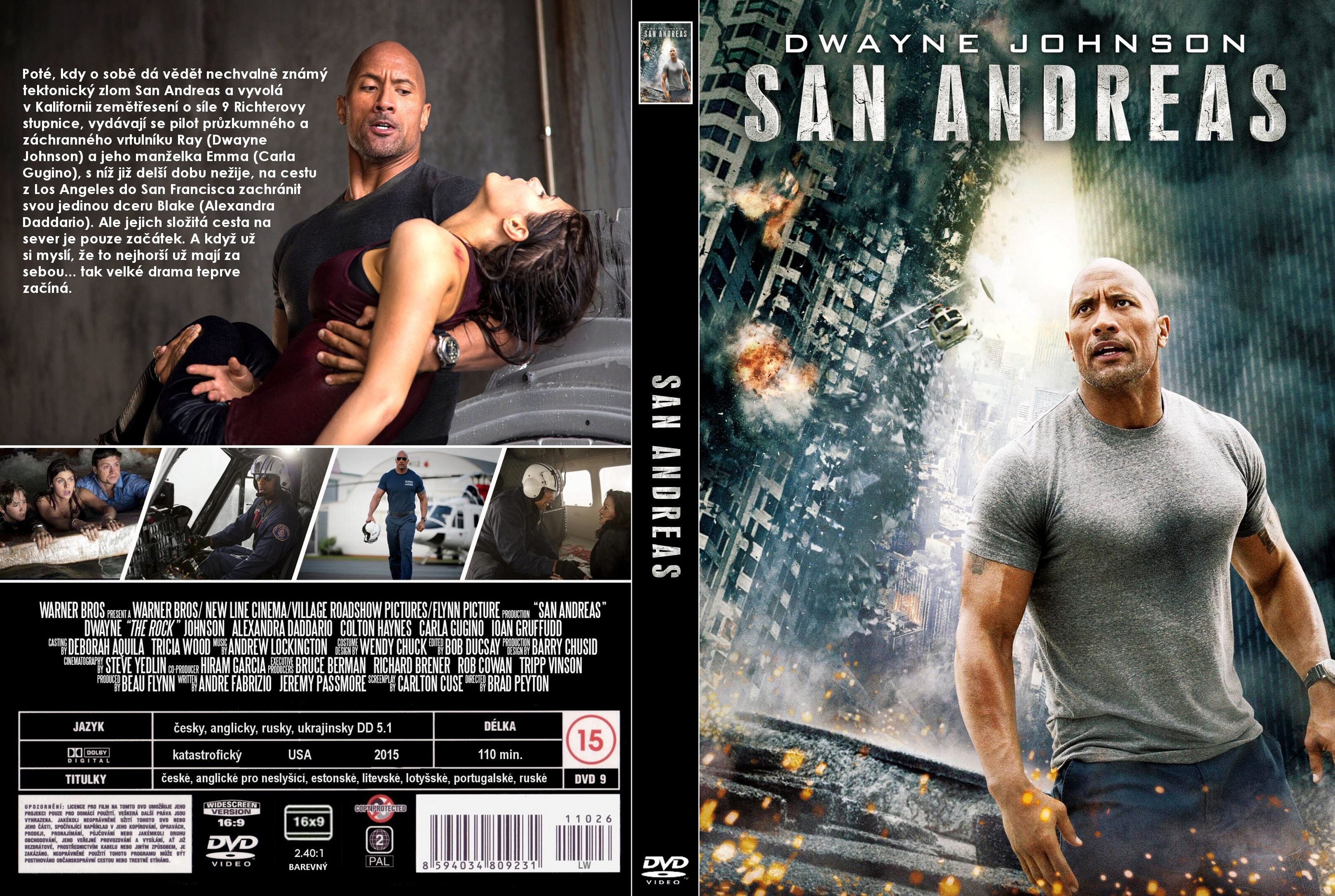 Covers Box Sk San Andreas 2015 High Quality Dvd Blueray Movie