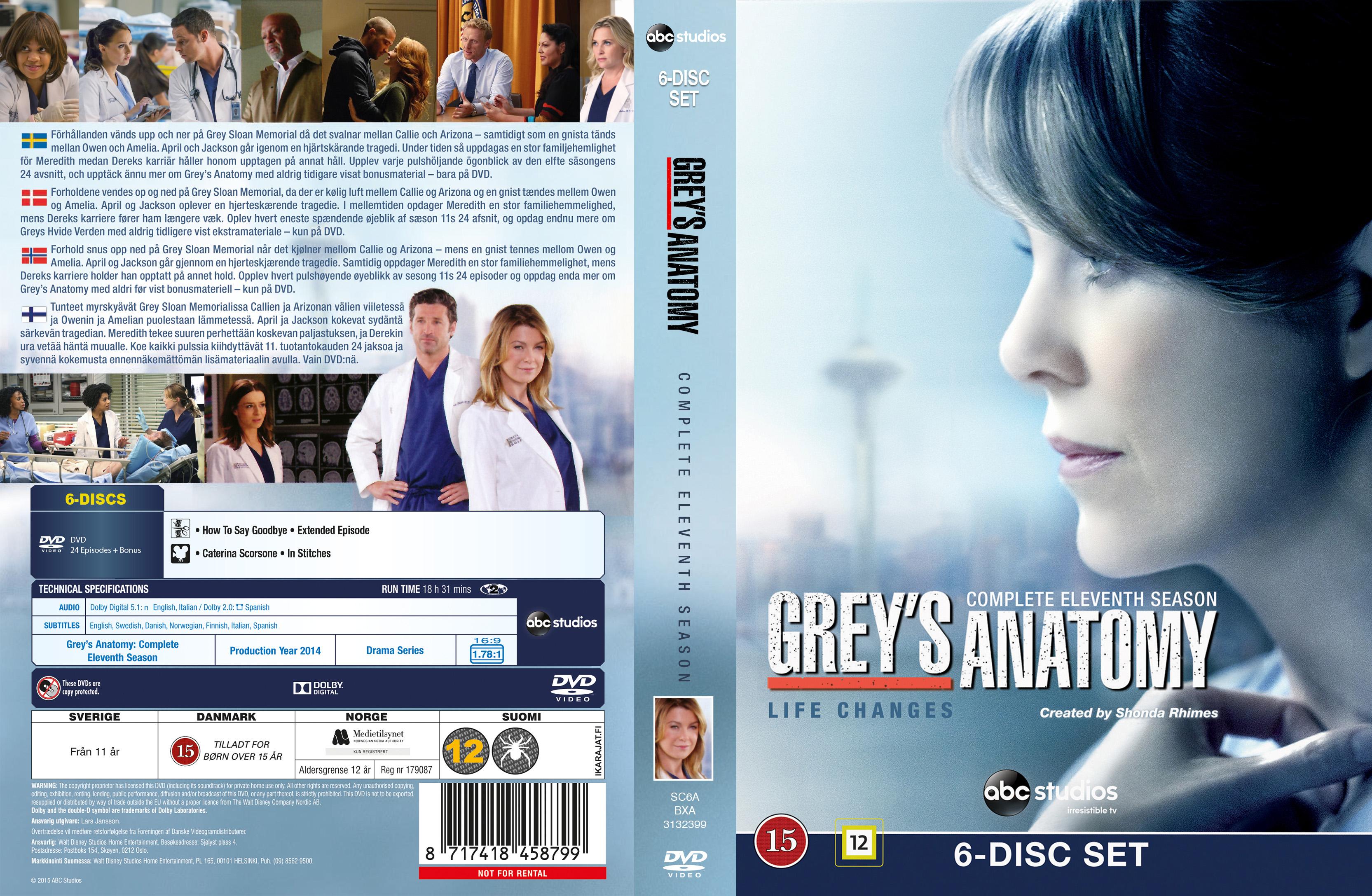 Coversx Greys Anatomy Season 11 Nordic High Quality