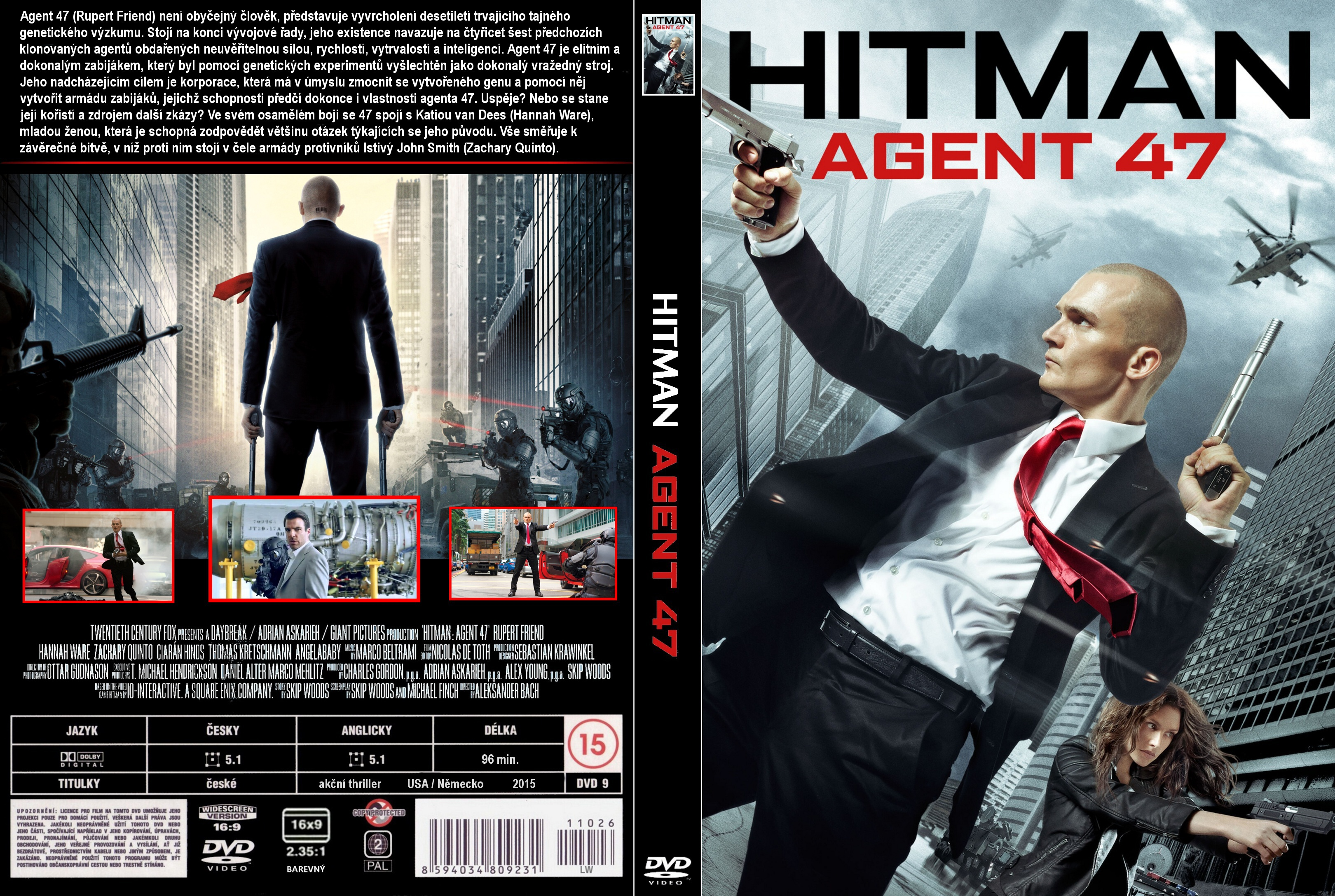 Covers Box Sk Hitman Agent 47 2015 High Quality Dvd