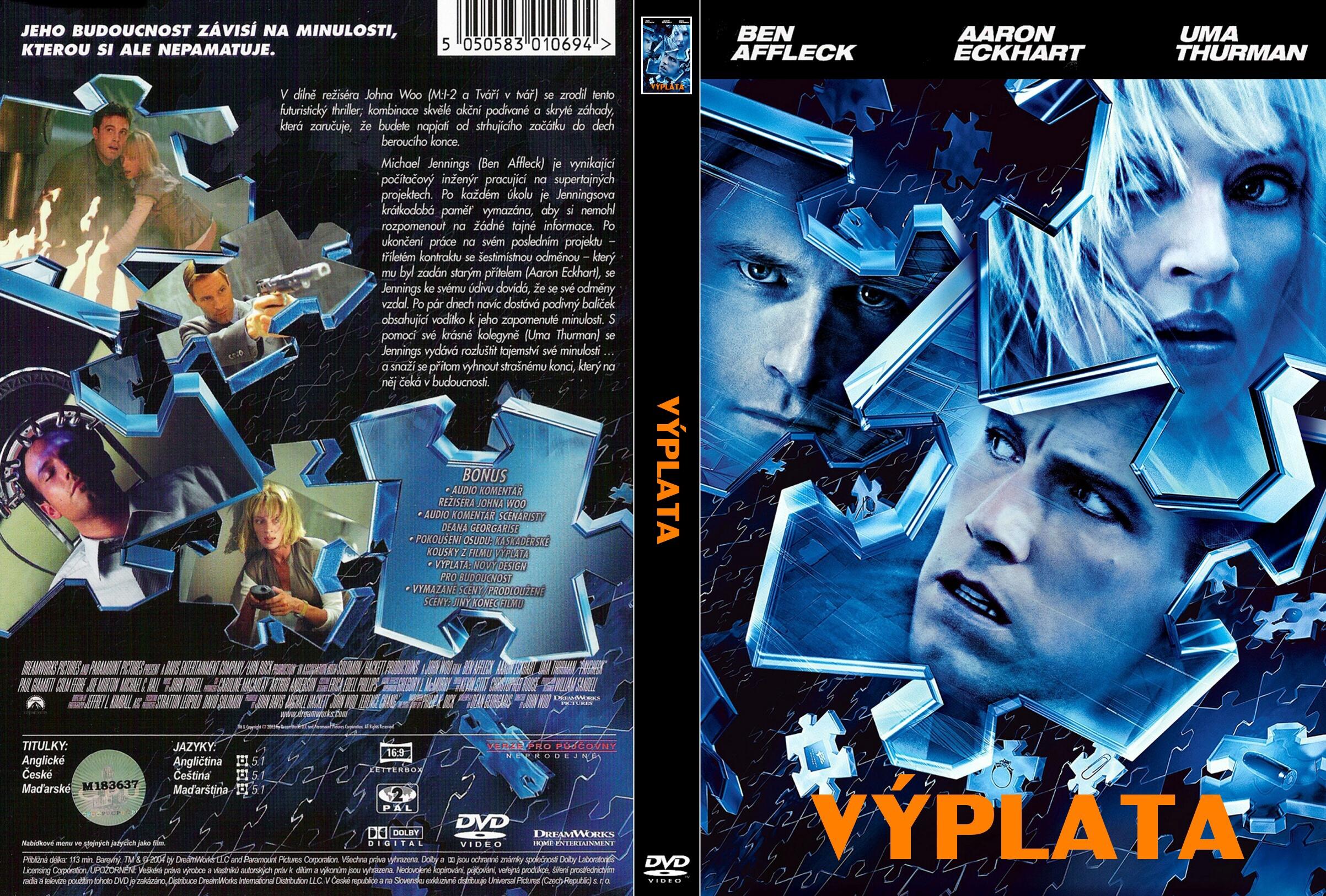 COVERS BOX SK ::: Paycheck (2003) - high quality DVD