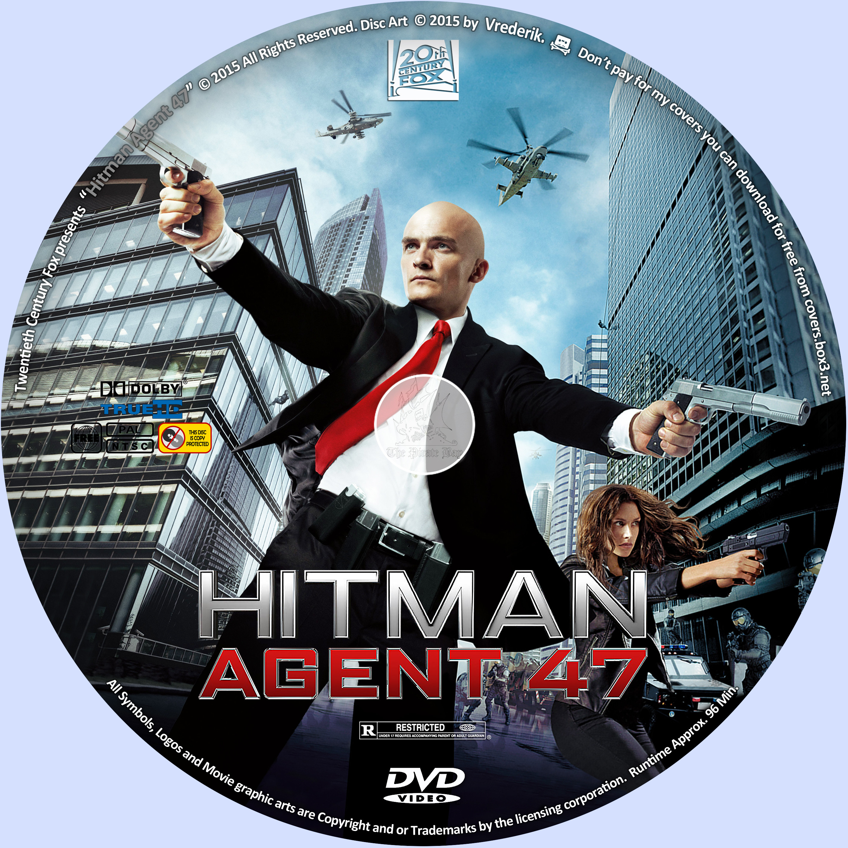 Covers Box Sk Hitman Agent 47 2015 Blu Ray Dvd