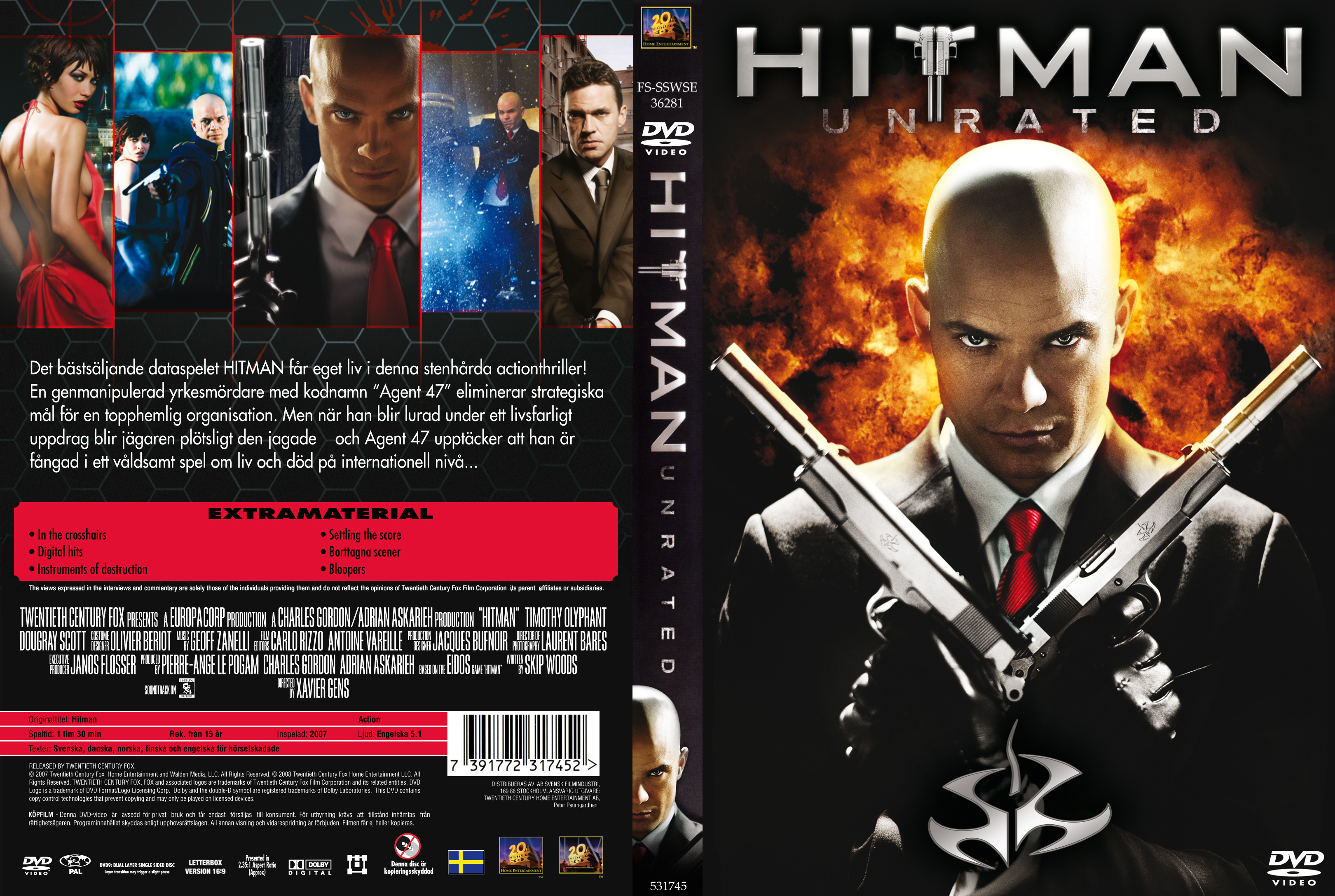 Covers Box Sk Hitman 2007 High Quality Dvd Blueray Movie