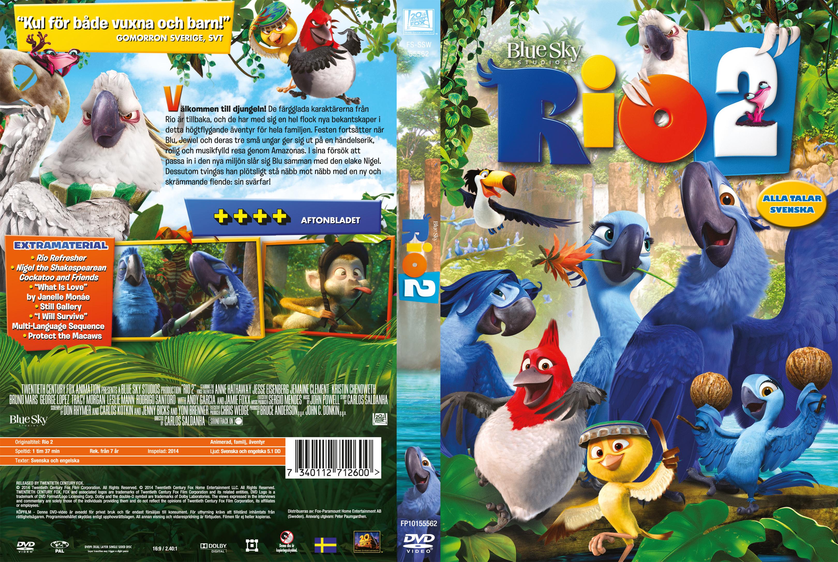 Covers Box Sk Rio 2 2014 High Quality Dvd Blueray Movie