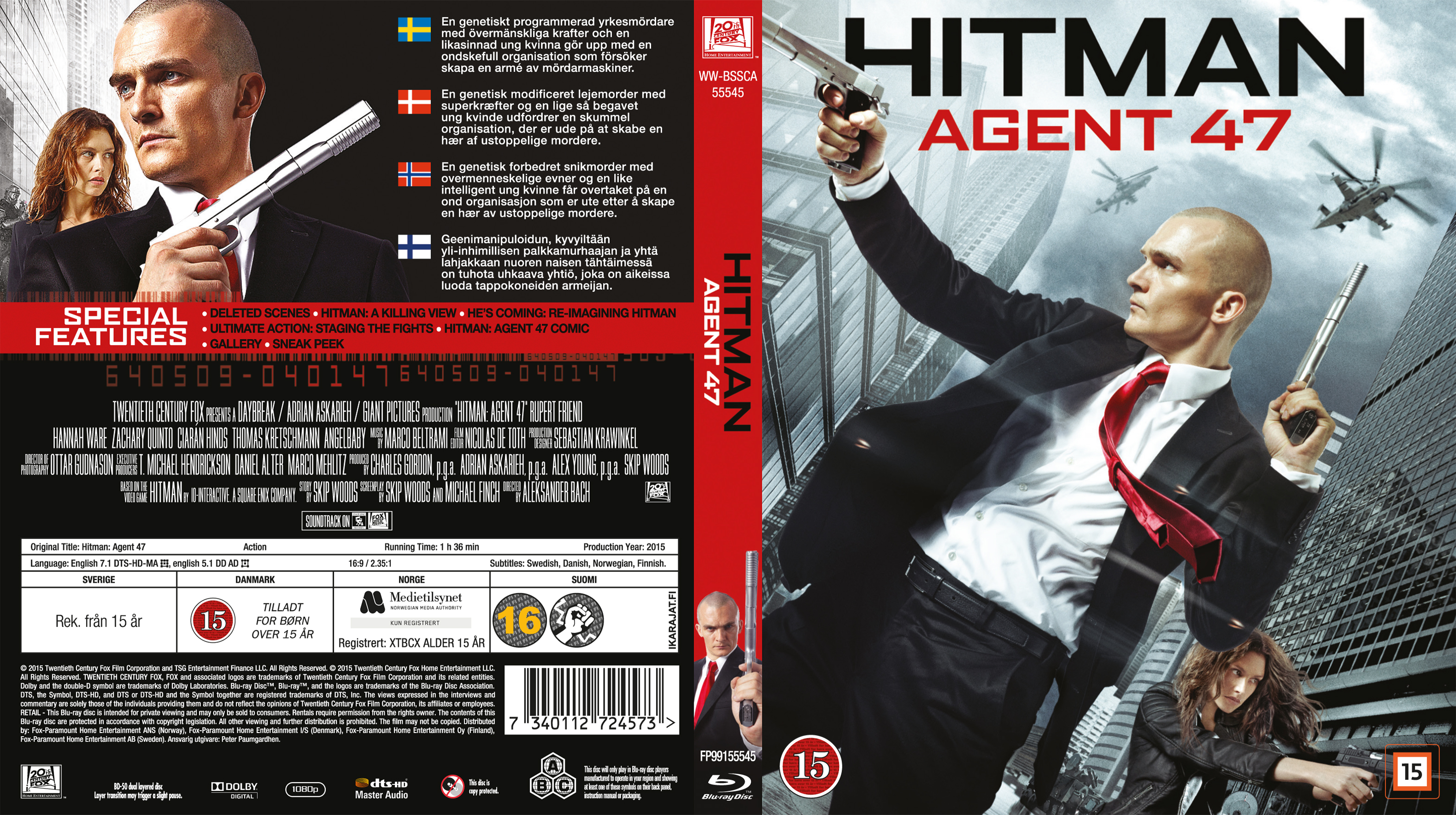 Covers Box Sk Hitman Agent 47 2015 Blu Ray Nordic
