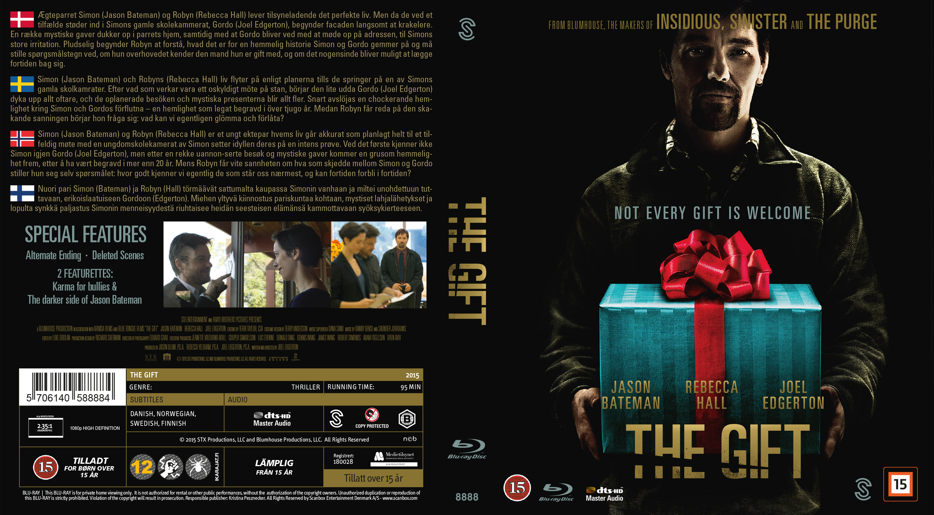 COVERS.BOX.SK ::: The Gift (2015) - Blu-Ray - Nordic - high ...