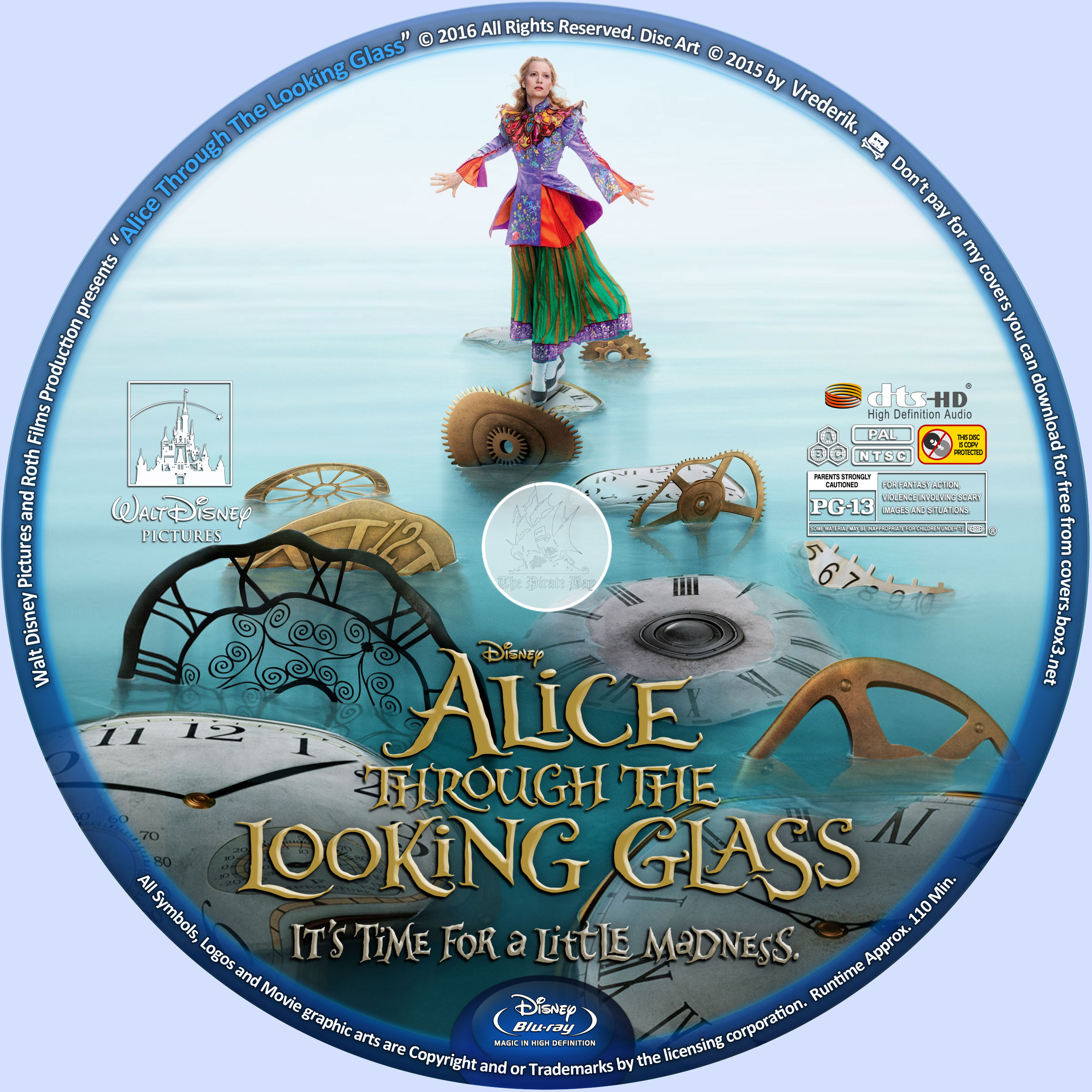 Coversboxsk Alice Through The Looking Glass 2016 Blu