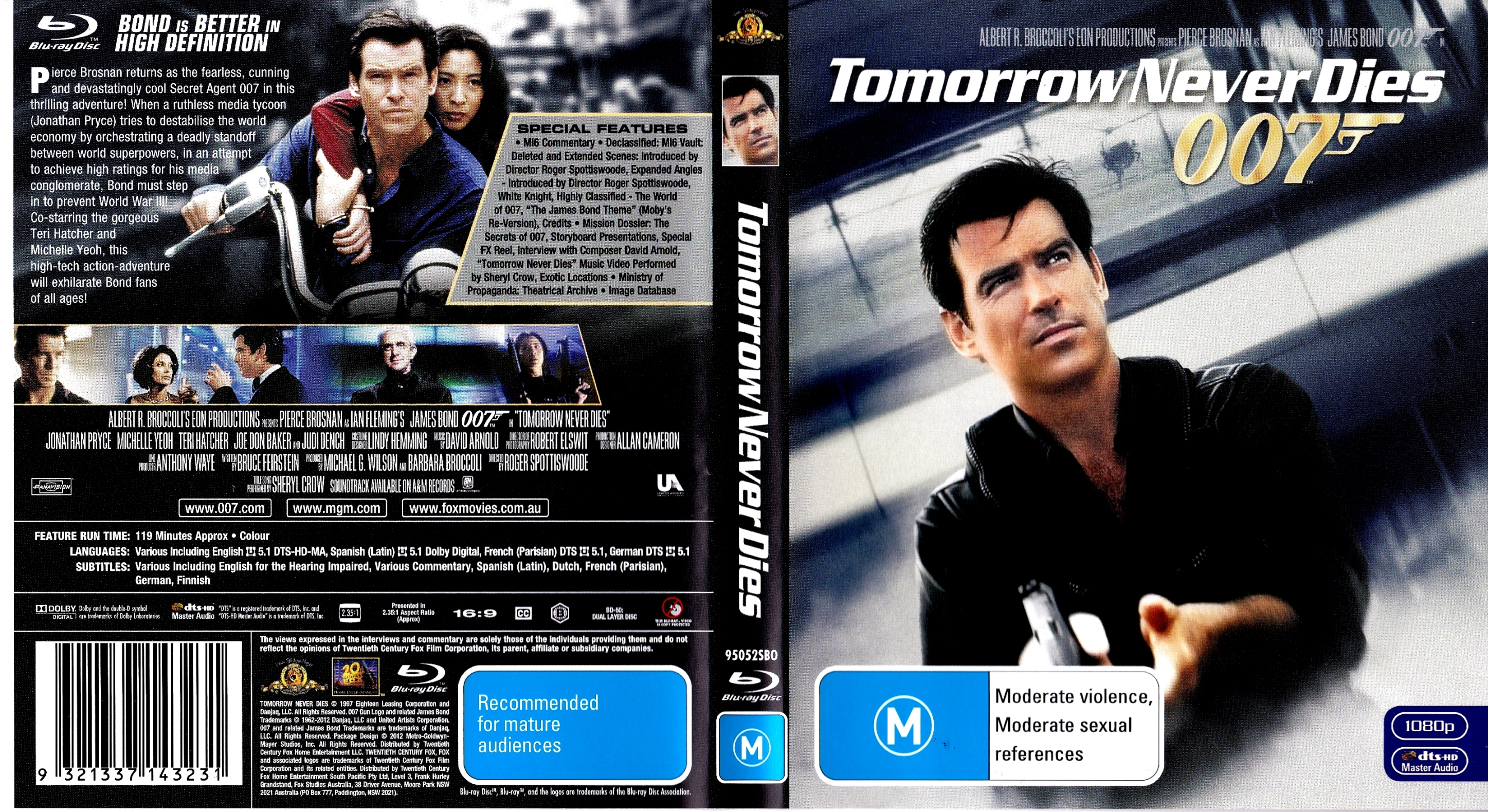 Covers Box Sk Tomorrow Never Dies 1997 High Quality Dvd Blueray Movie