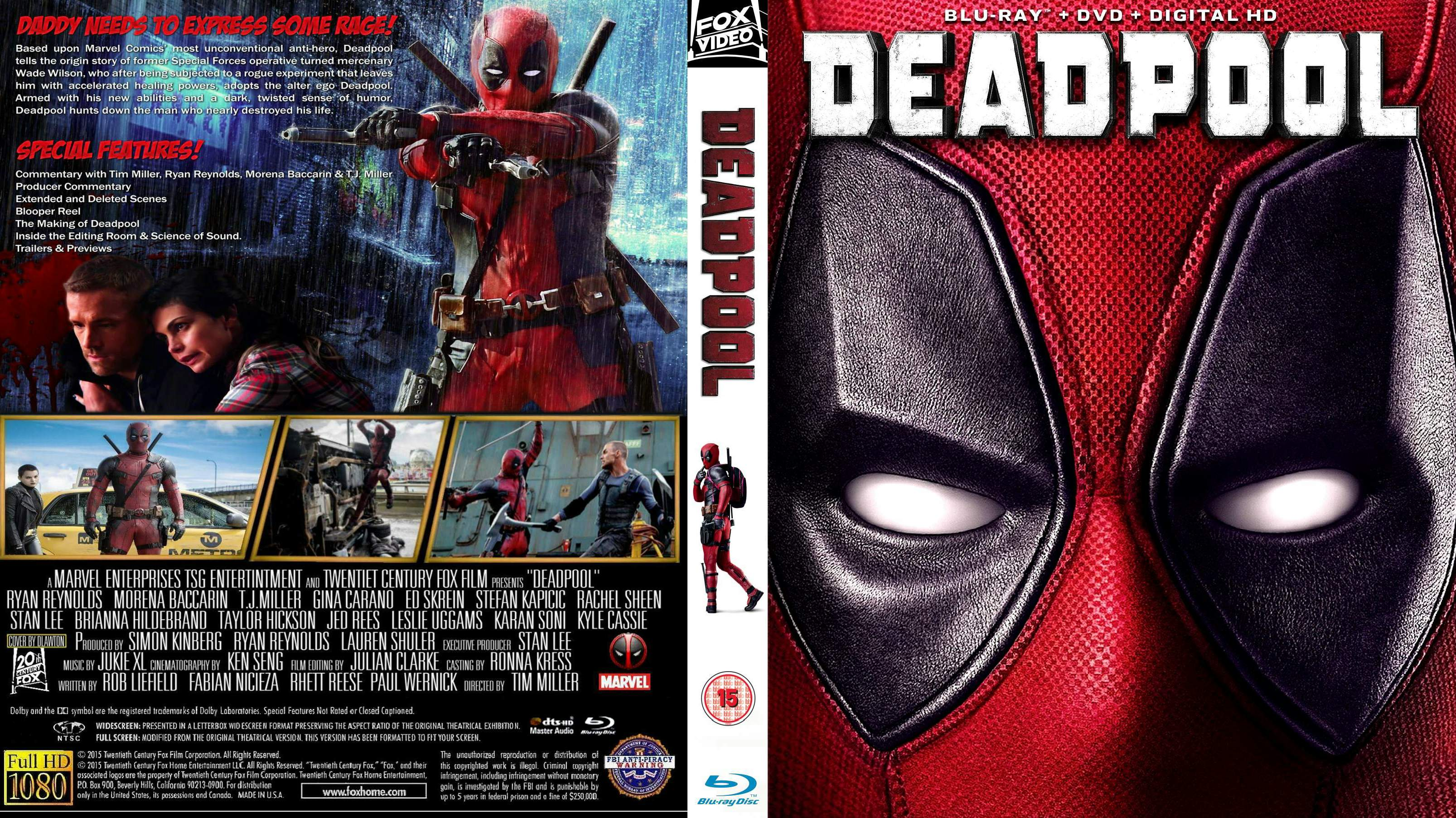 Covers Box Sk Deadpool 2016 High Quality Dvd Blueray Movie
