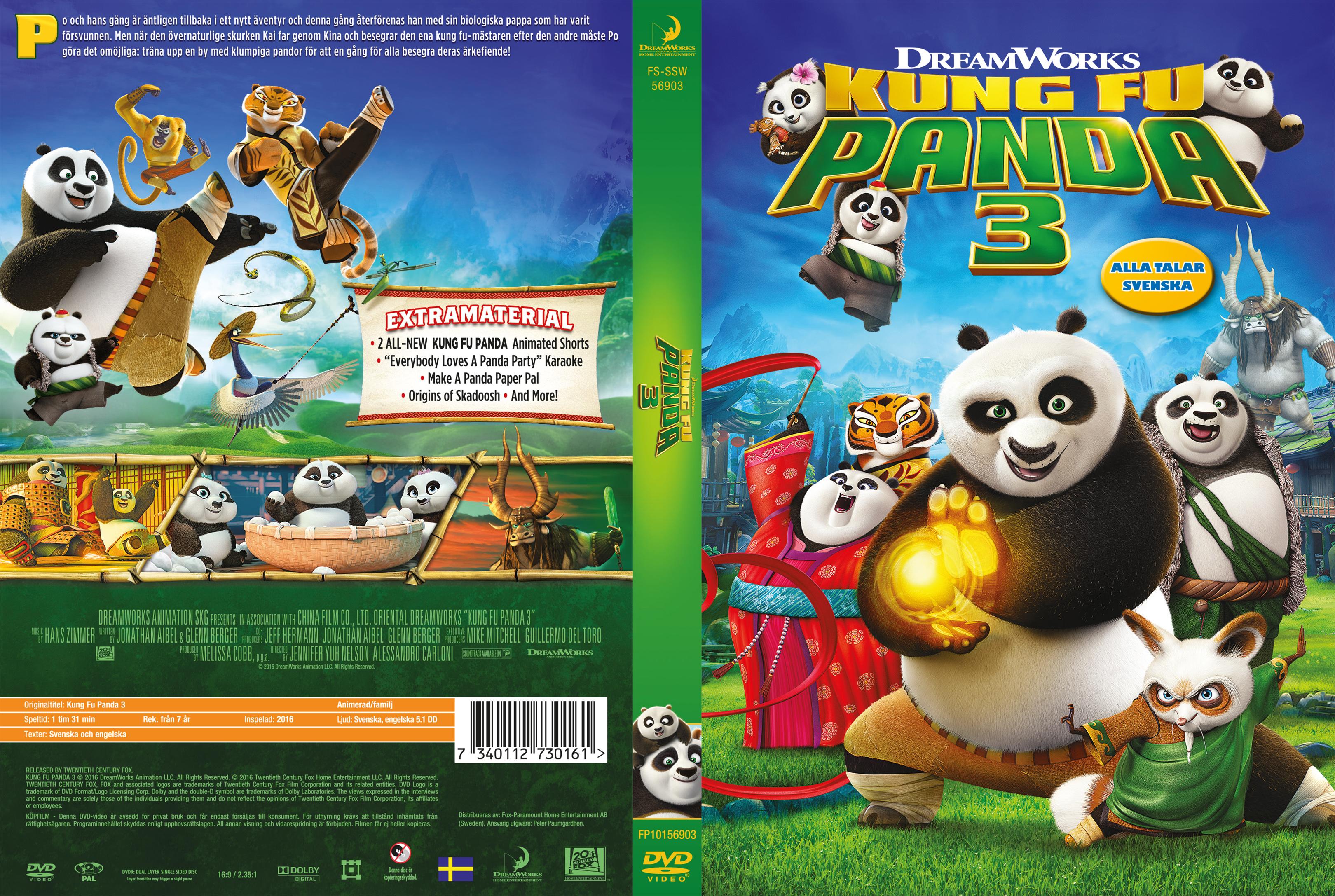Kung fu panda dvd cover