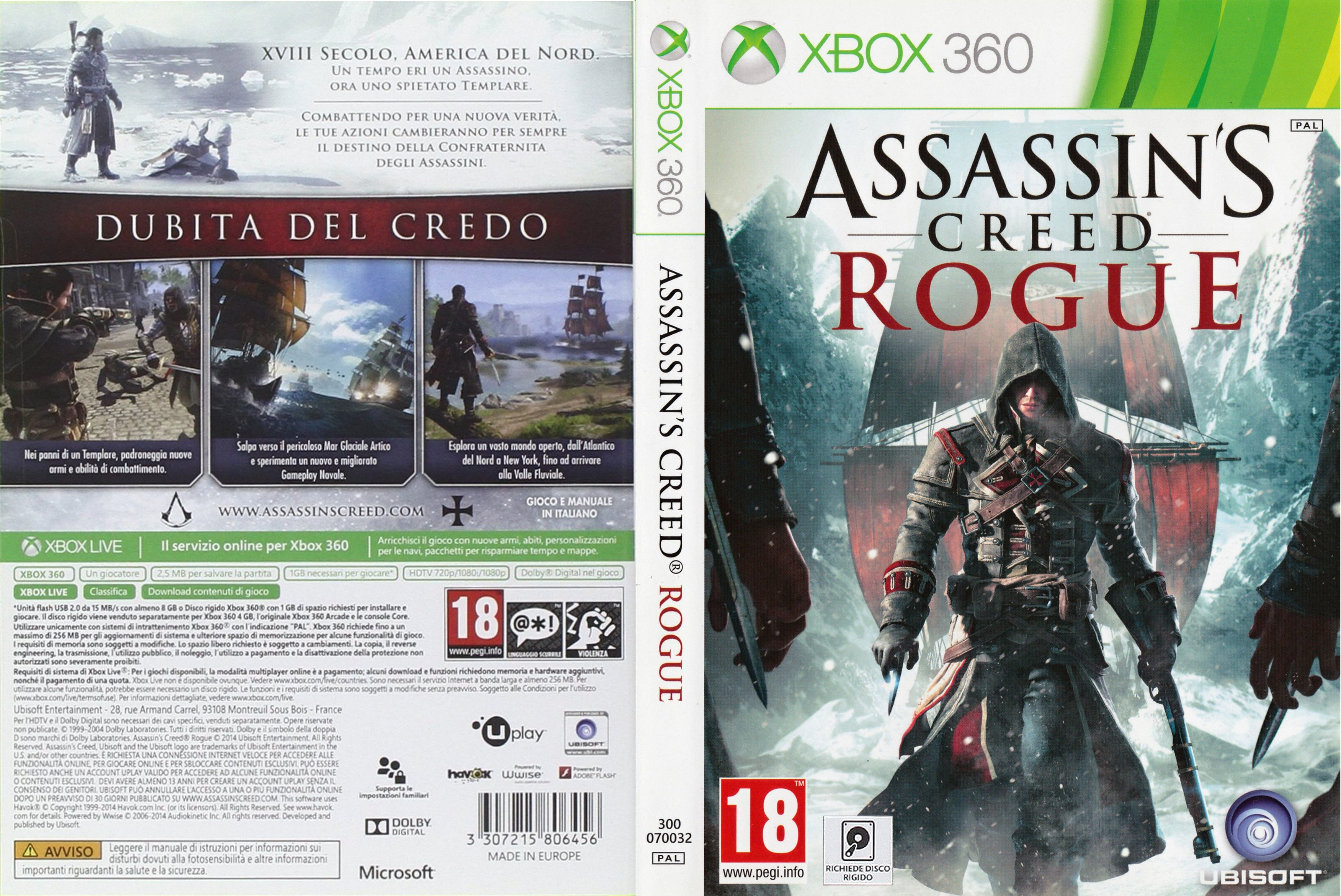 Covers Box Sk Assassin S Creed Rogue 2014 Xbox360 High