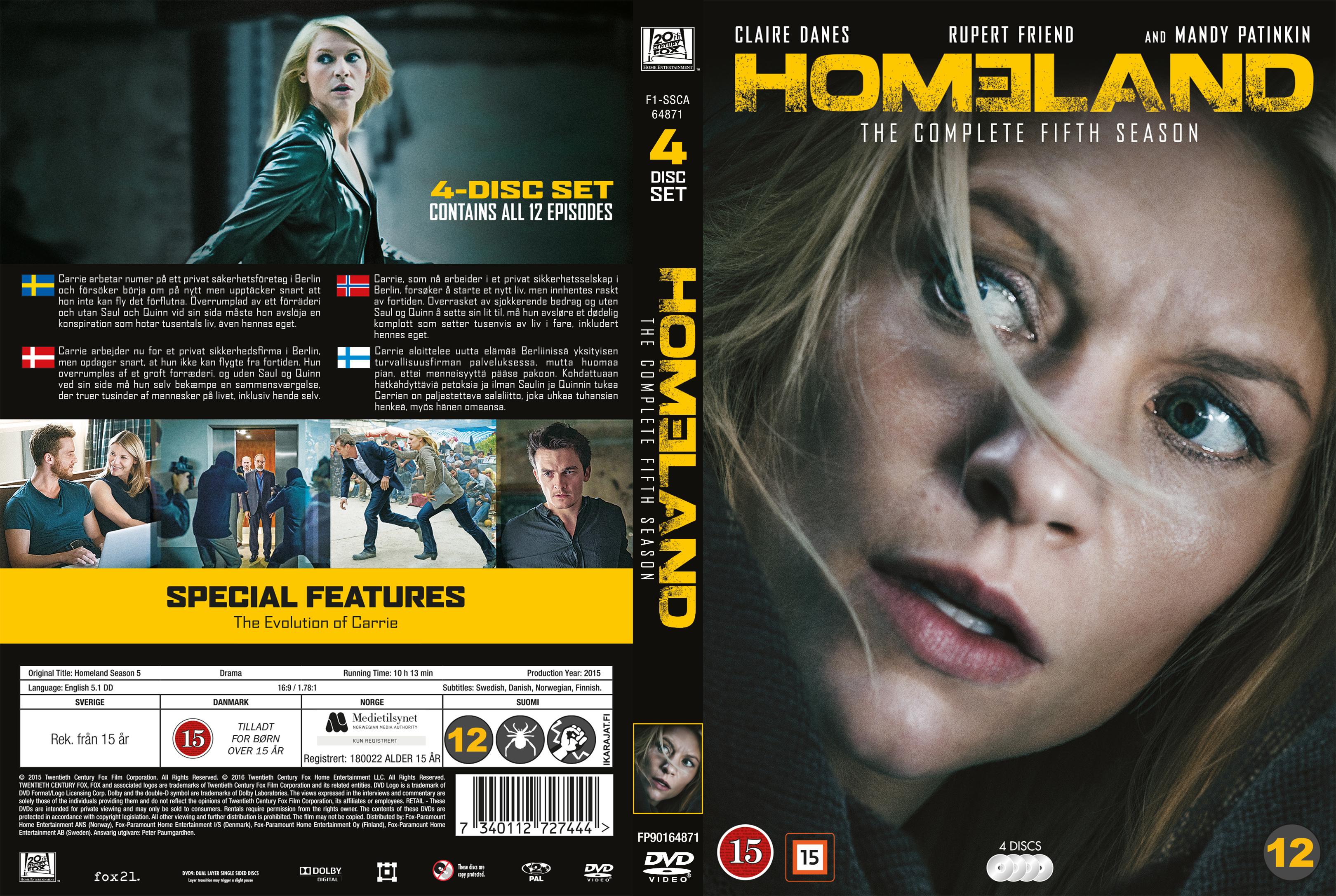 COVERS BOX SK ::: Homeland - Season 5 - Nordic (2015) - high quality