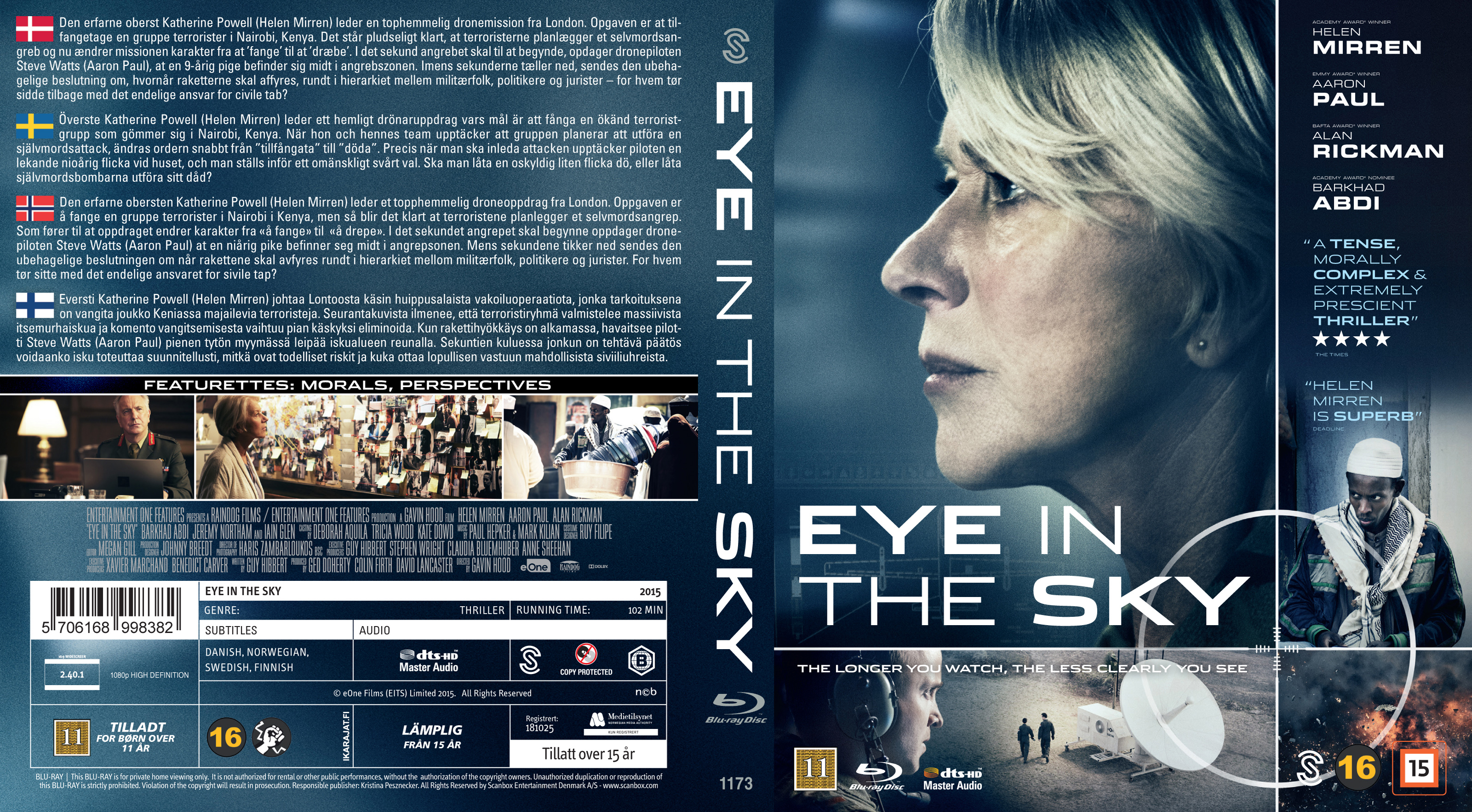 Covers Box Sk Eye In The Sky Blu Ray Nordic 2015 High Quality Dvd Blueray Movie