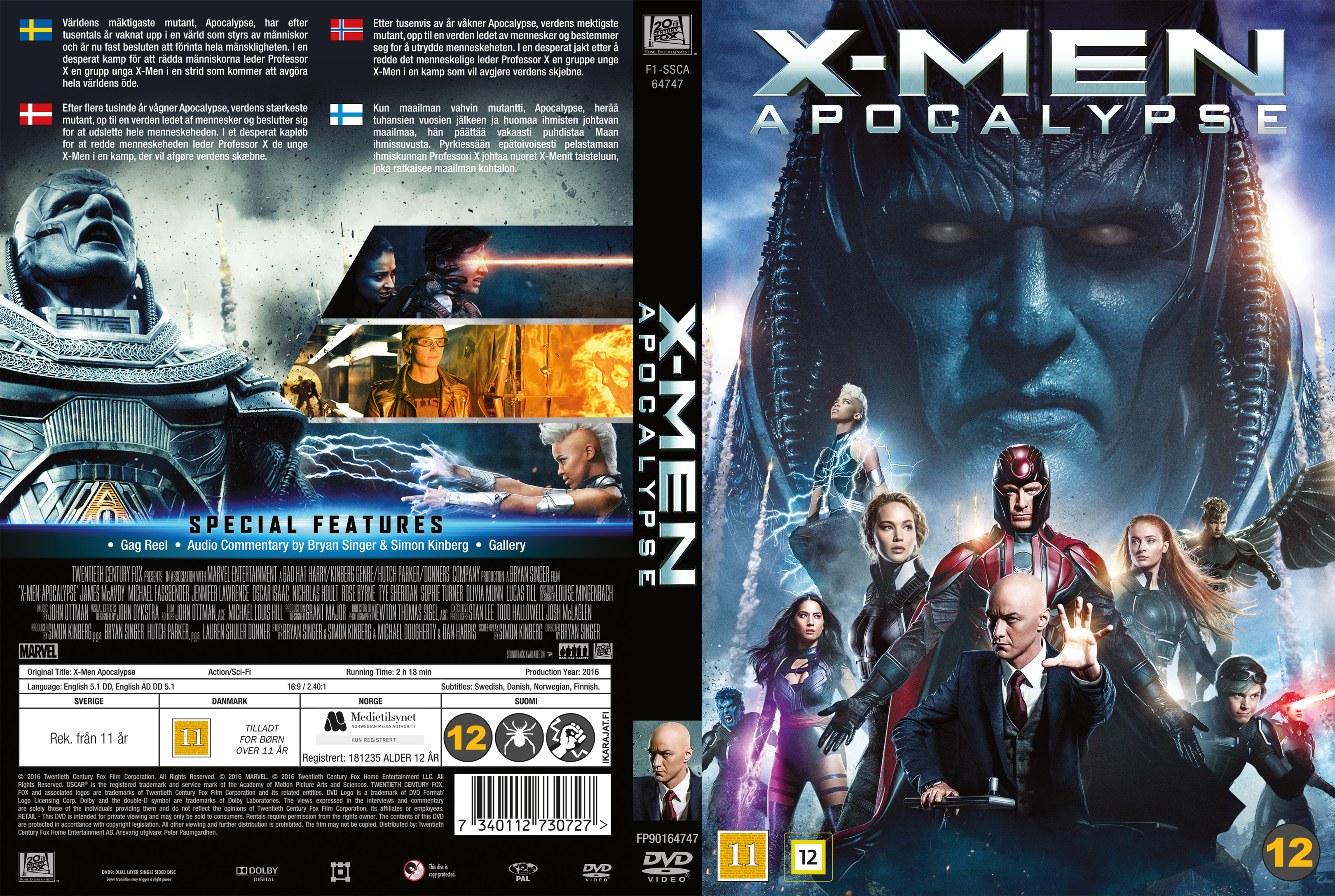 X Men Dvd Cover: COVERS.BOX.SK ::: X-Men Apocalypse
