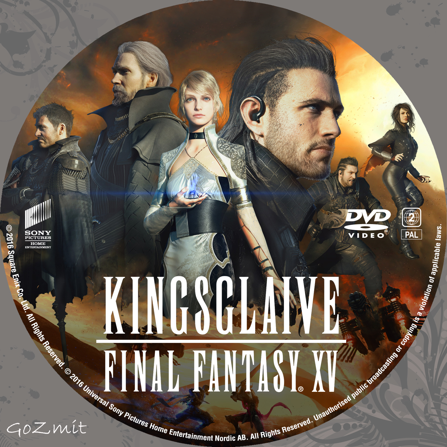 Book Cover Fantasy Xv : Covers box sk kingsglaive final fantasy xv nordic