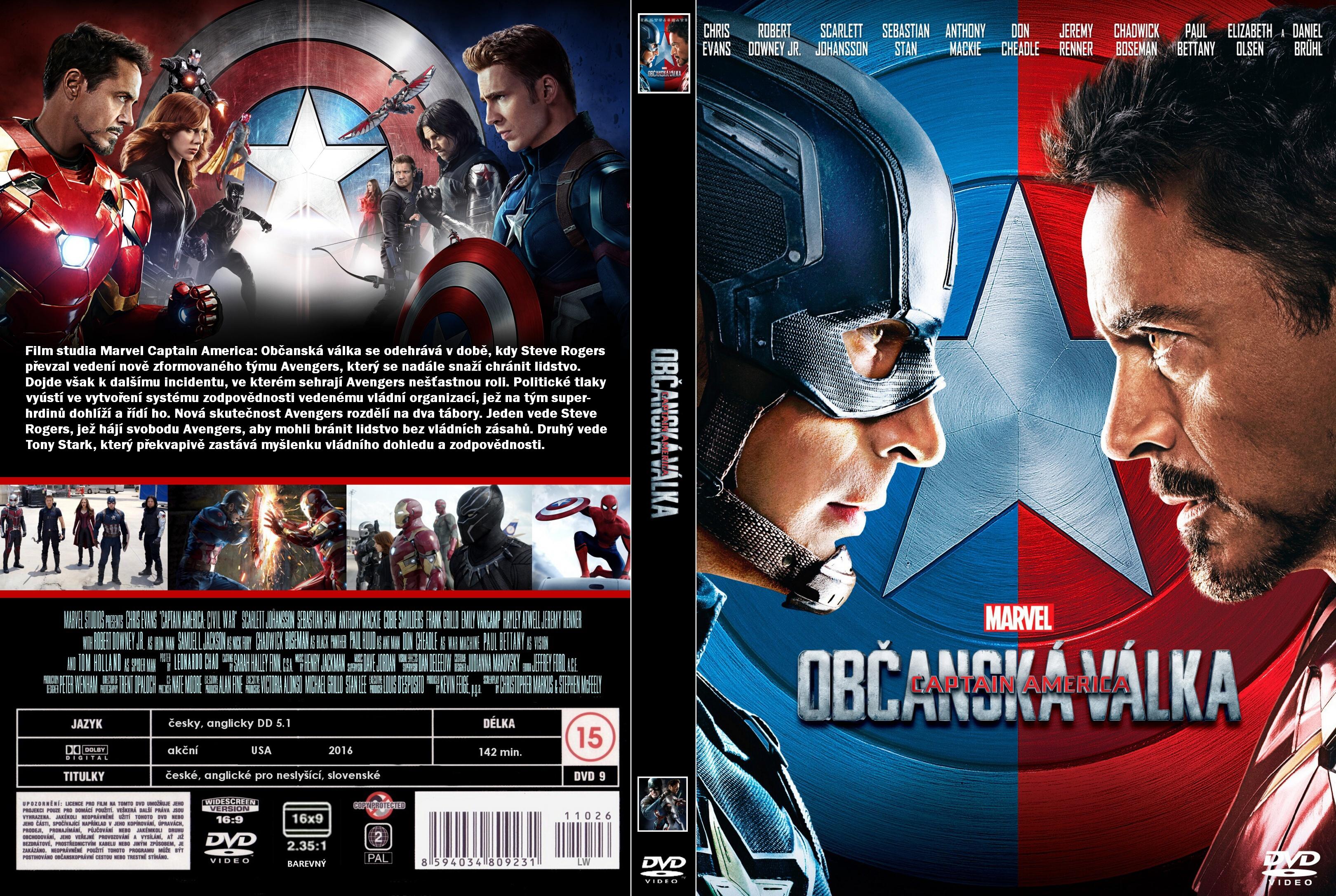 Covers Box Sk Captain America Civil War 2016 High Quality Dvd Blueray Movie
