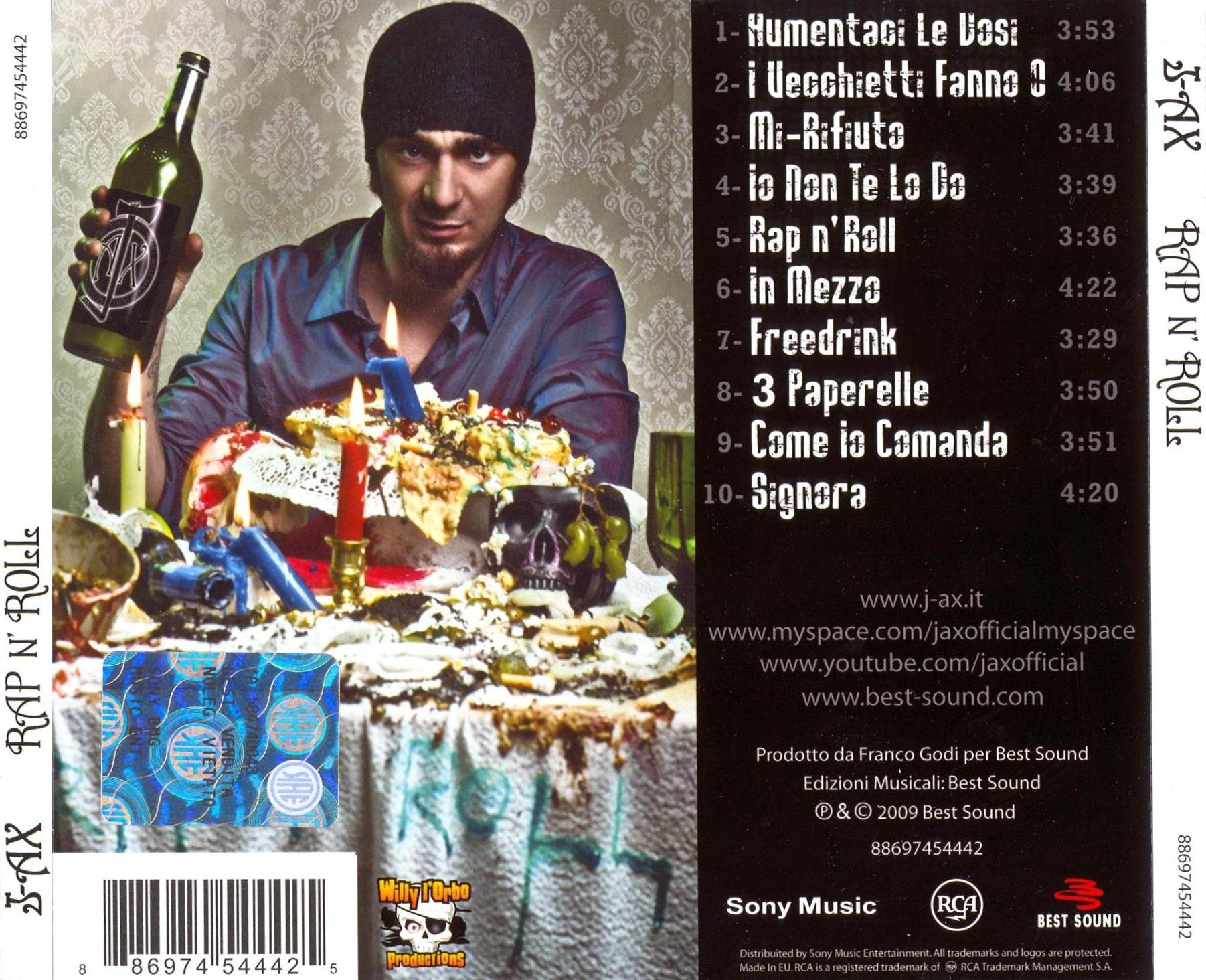 covers box sk j ax rap n roll 2009 1 2 high quality dvd