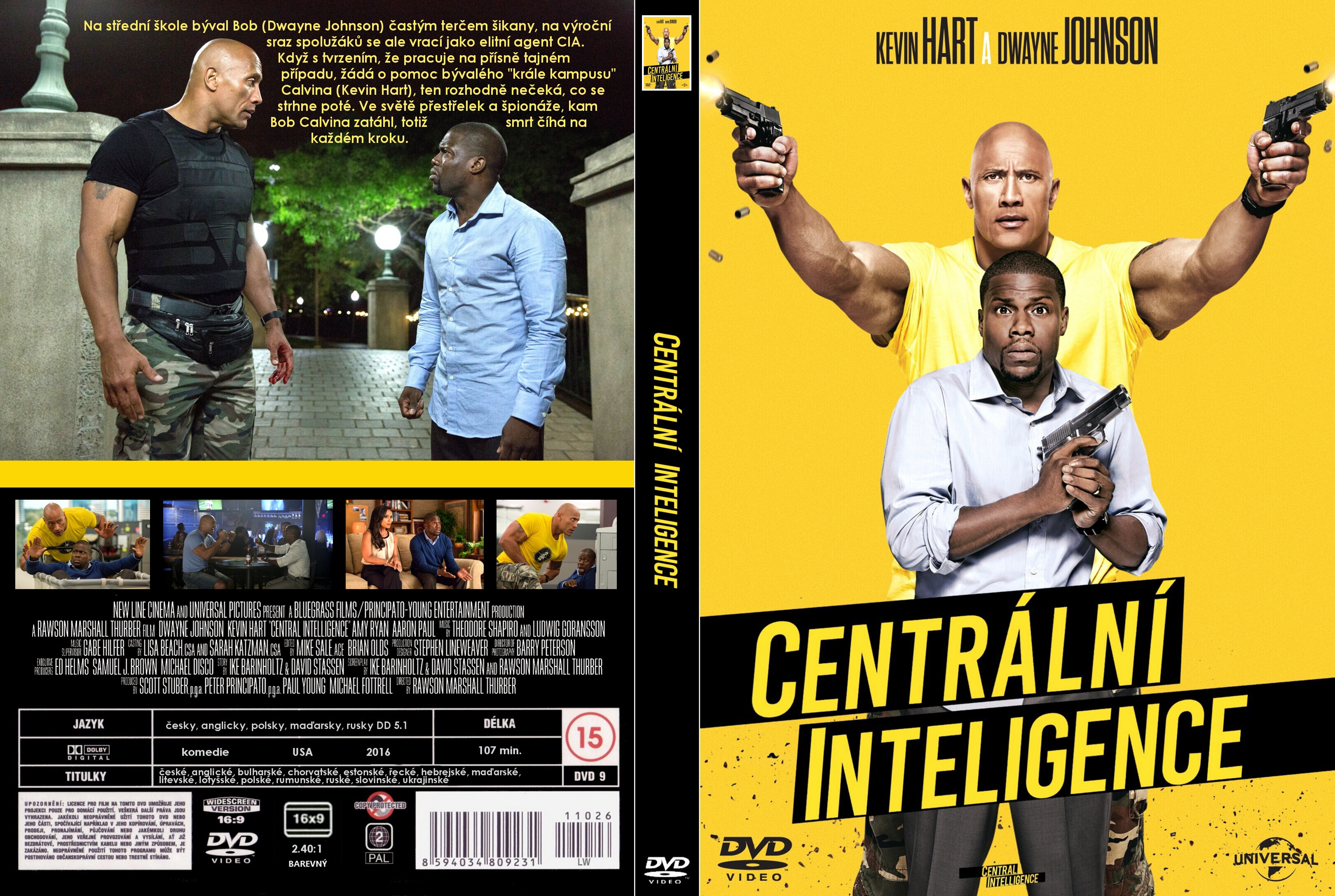 Covers Box Sk Central Intelligence 2016 High Quality Dvd Blueray Movie