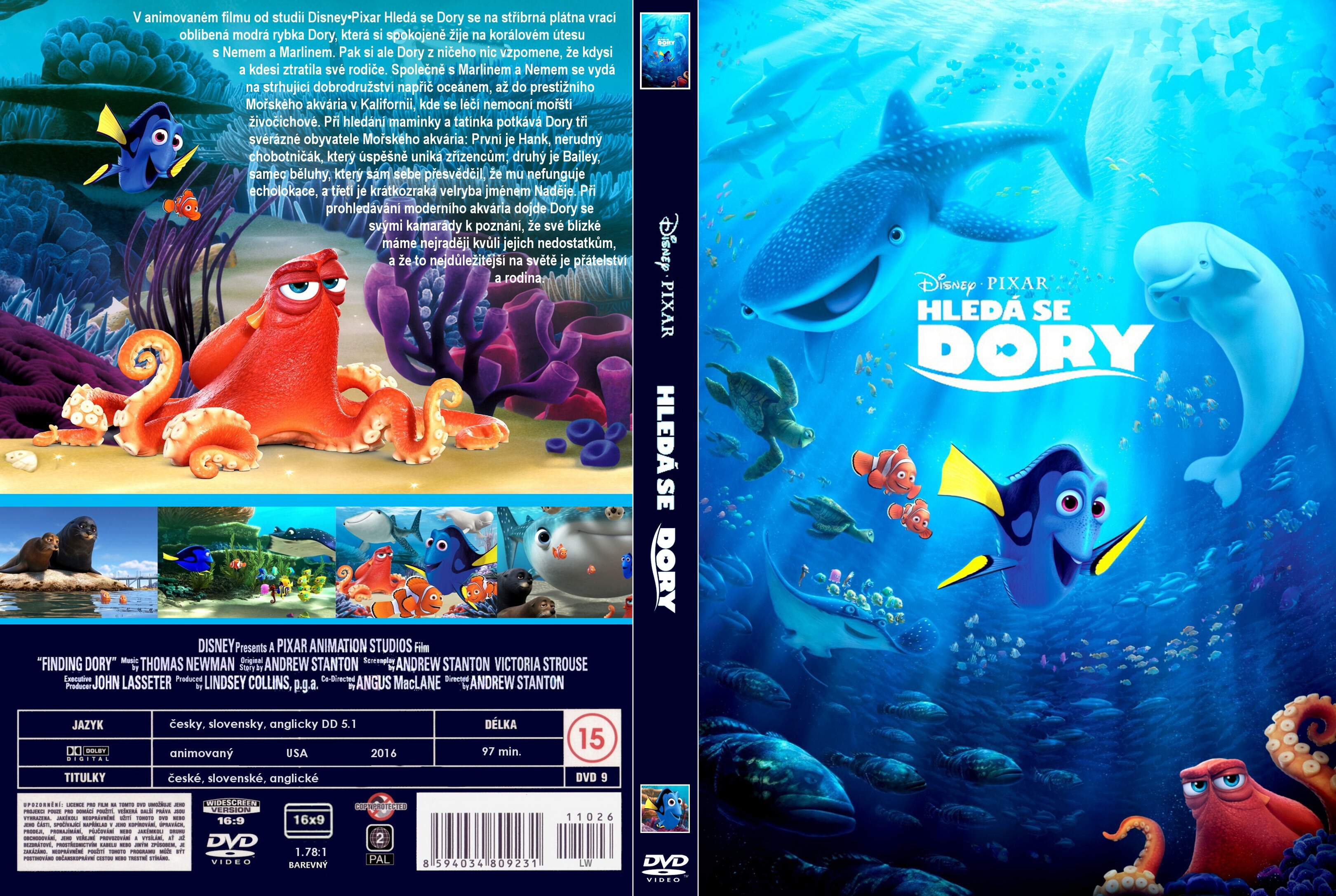 Covers Box Sk Finding Dory 2016 High Quality Dvd Blueray Movie