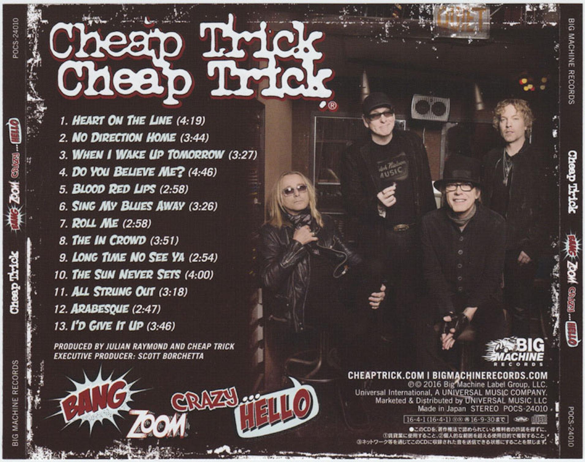 781ed0d71e8a04 Cheap Trick - Bang Zoom Crazy... Hello (Japanese Edition) (2016) - back