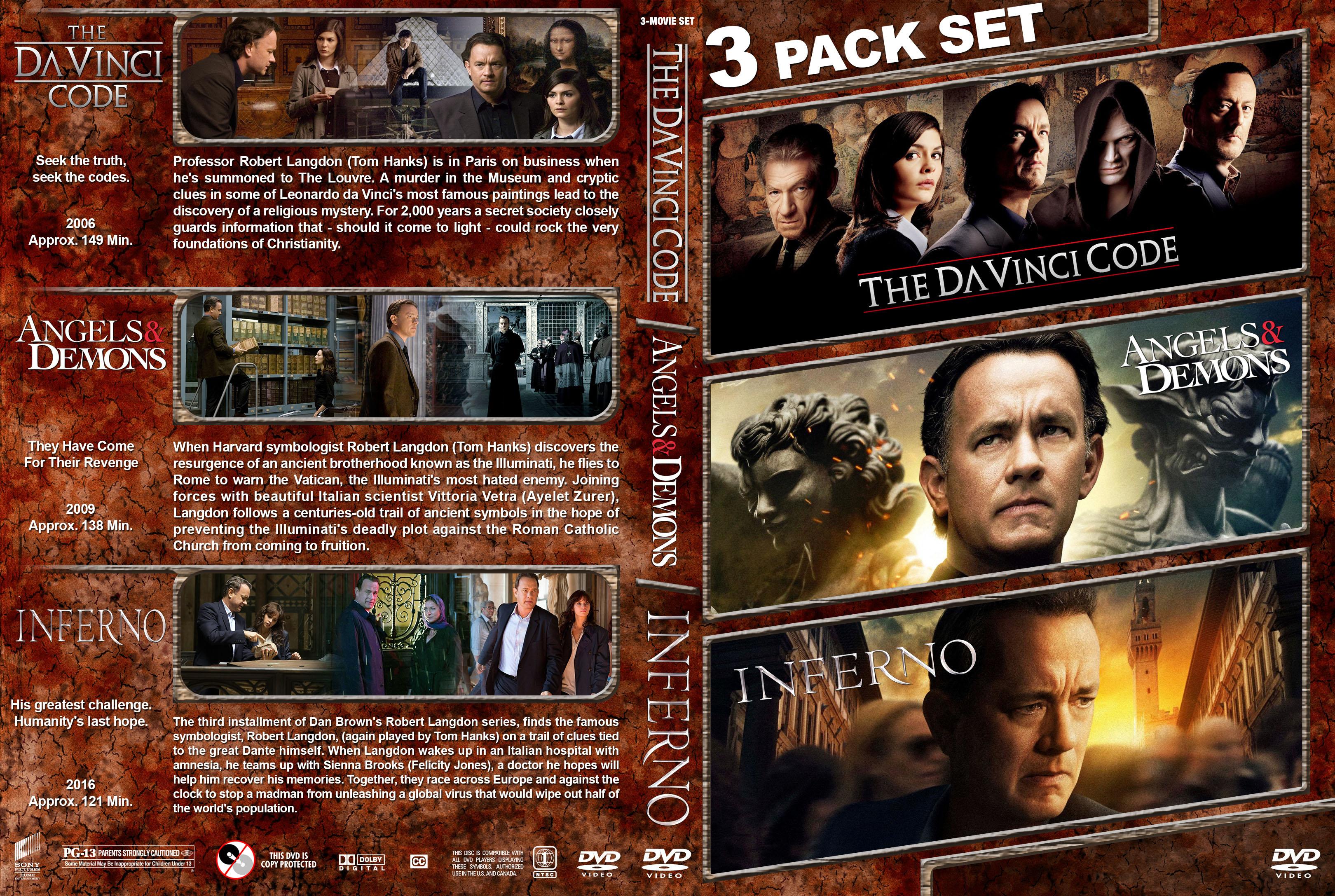 COVERSBOXSK Dan Brown Trilogy