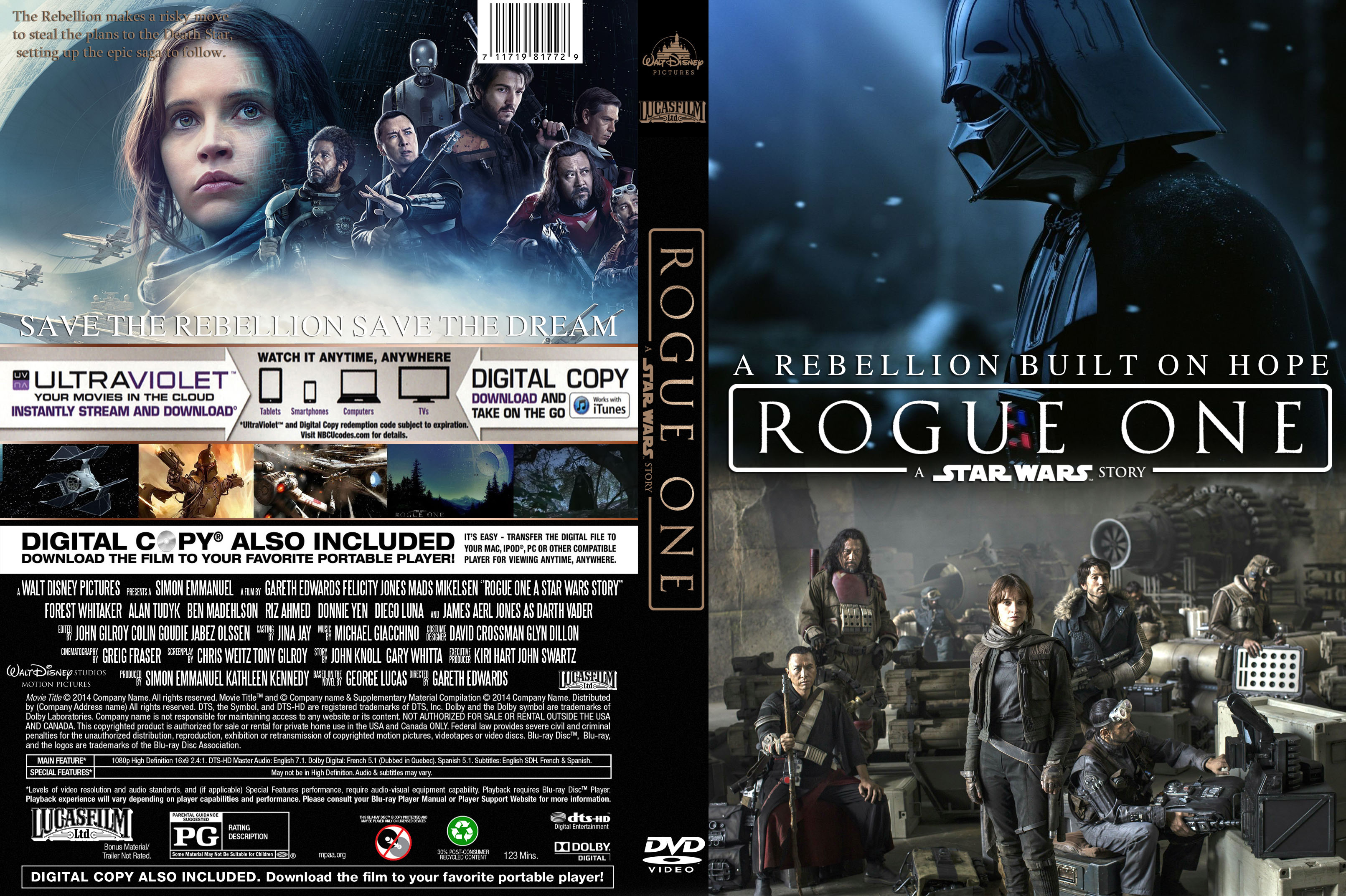 Covers Box Sk Rogue One A Star Wars Story 2016 High Quality Dvd Blueray Movie