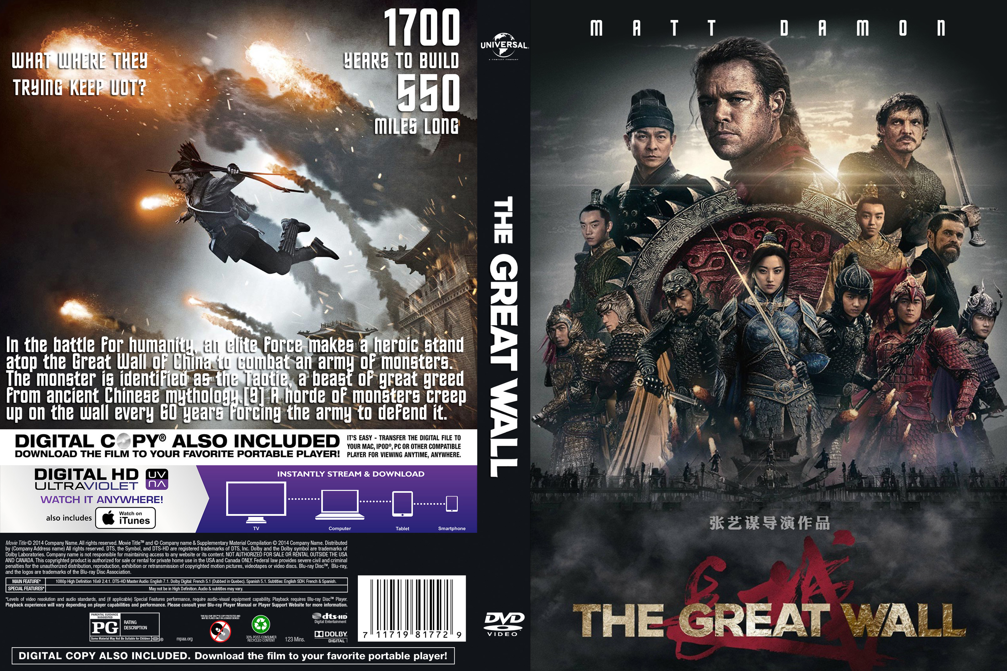 COVERS.BOX.SK ::: The Great Wall (2017) - high quality DVD / Blueray ...