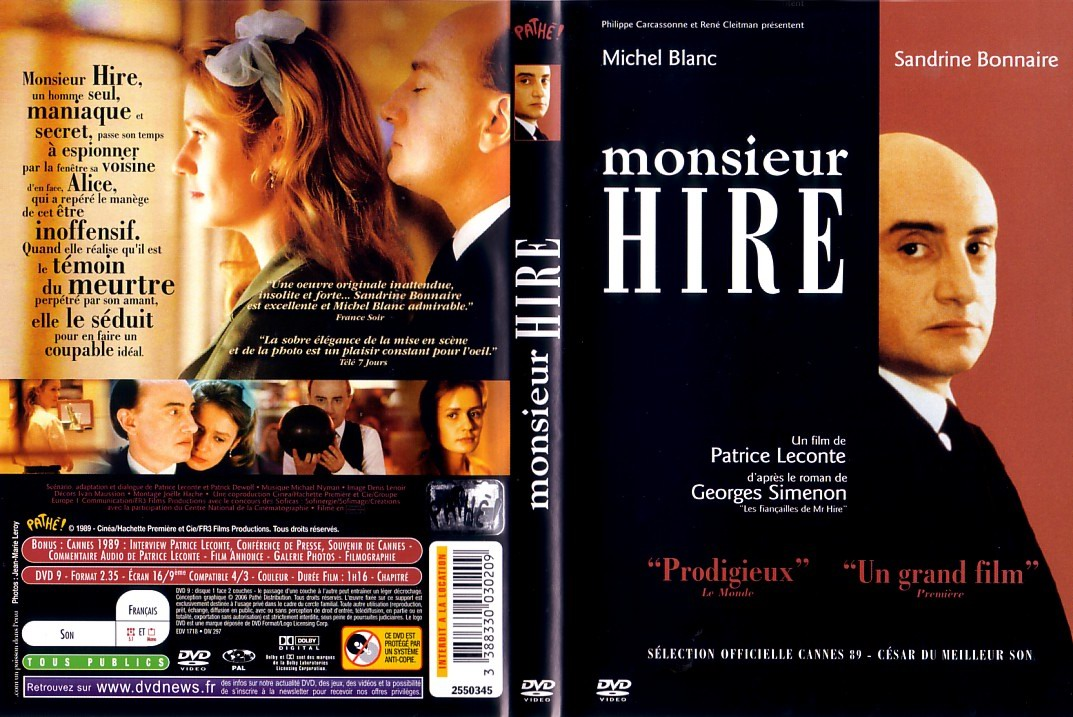 Covers Box Sk Monsieur Hire 01 Imovie Dl High Quality Dvd Blueray Movie