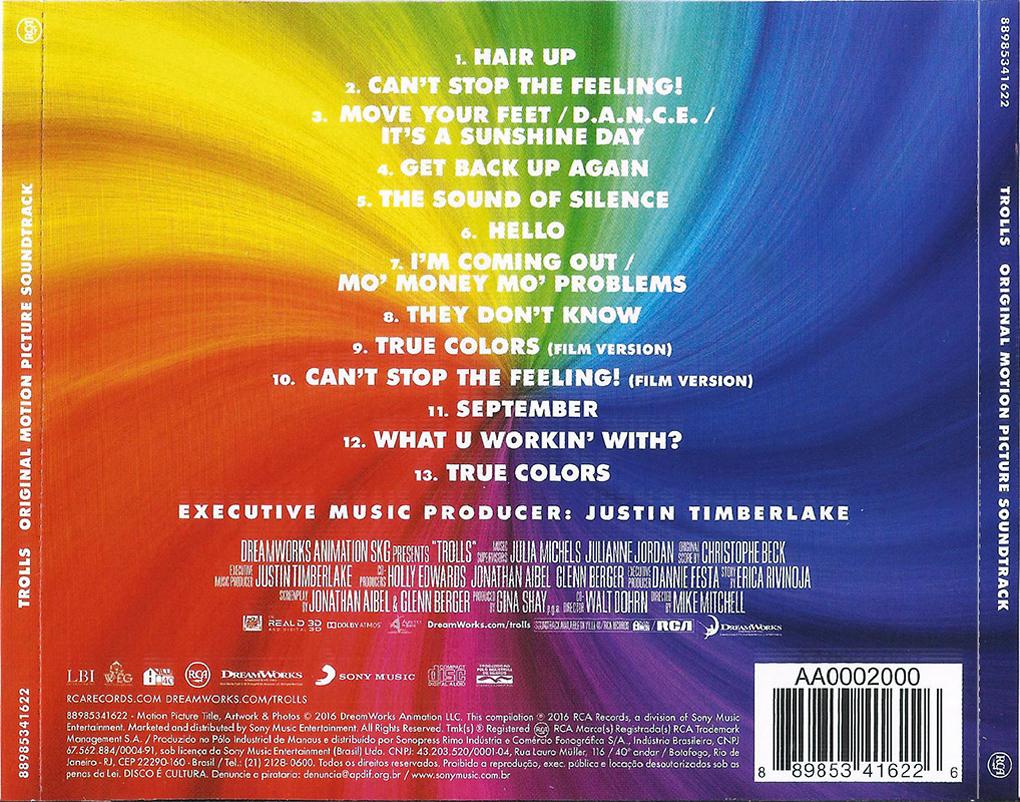 COVERS.BOX.SK ::: V.A. - TROLLS - Original Motion Picture Soundtrack (2016) ( 1/3) - high ...