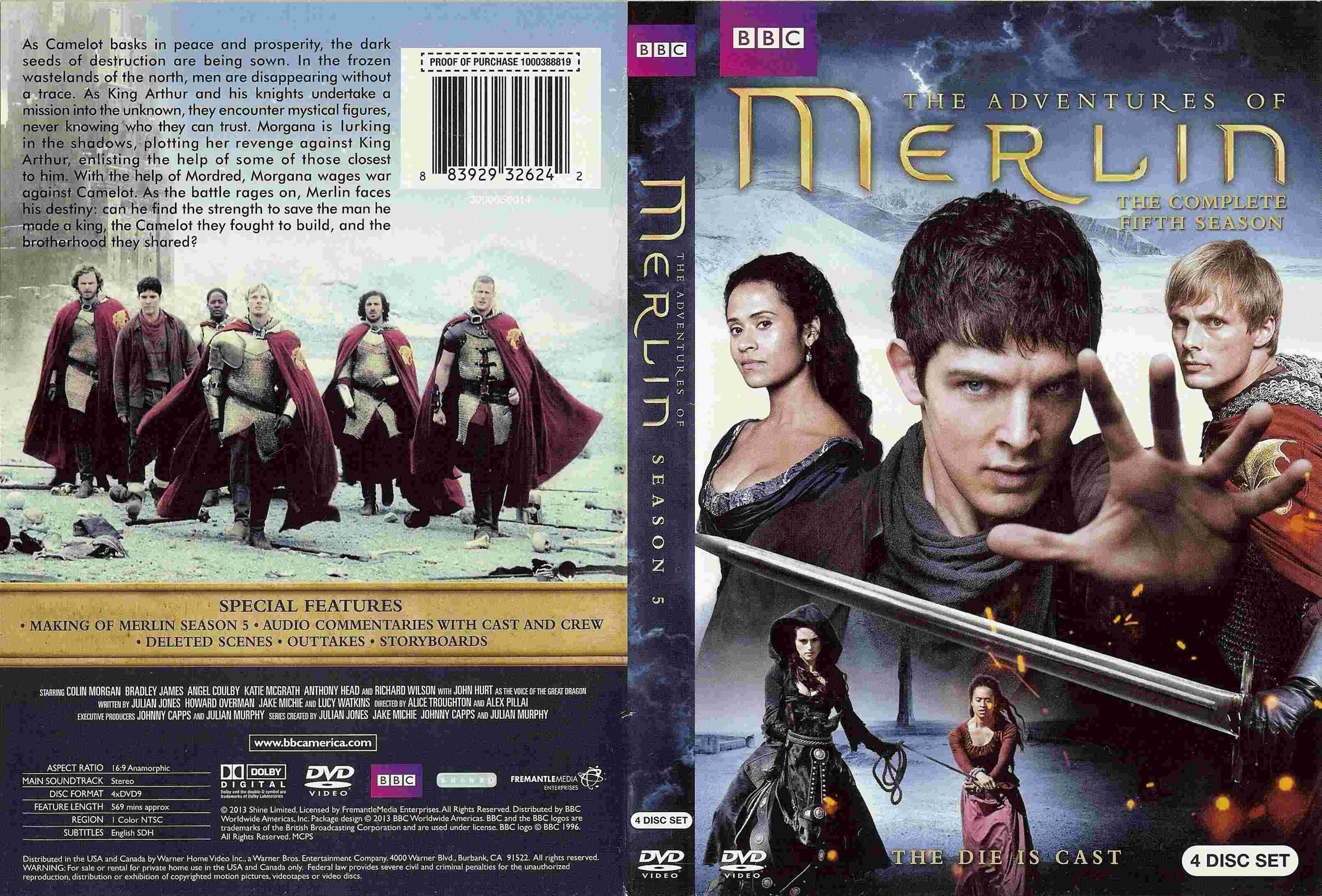 COVERS BOX SK ::: Merlin Season 5 (2012) - high quality DVD