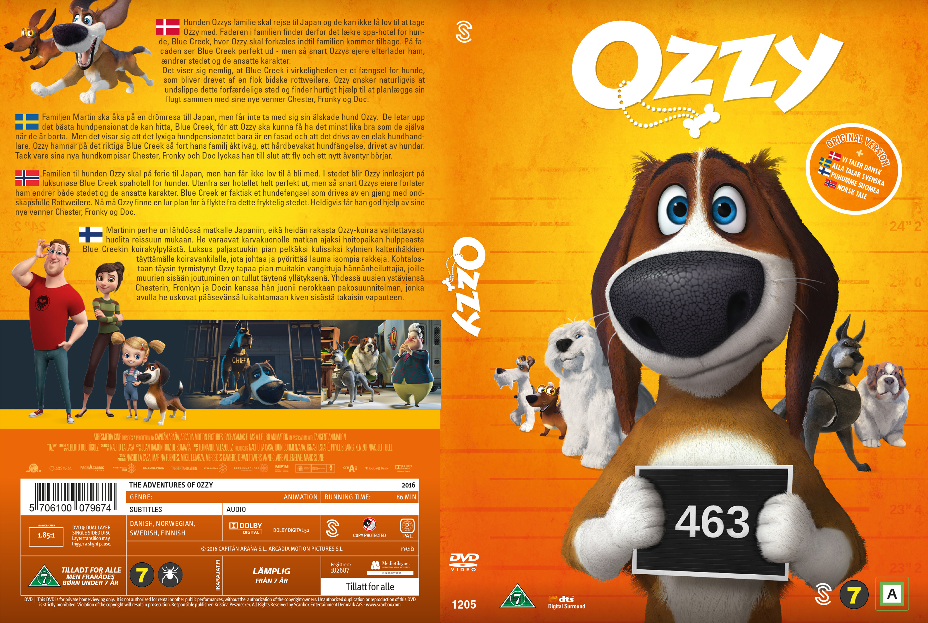 covers box sk the adventures of ozzy nordic 2016 high quality dvd blueray movie. Black Bedroom Furniture Sets. Home Design Ideas