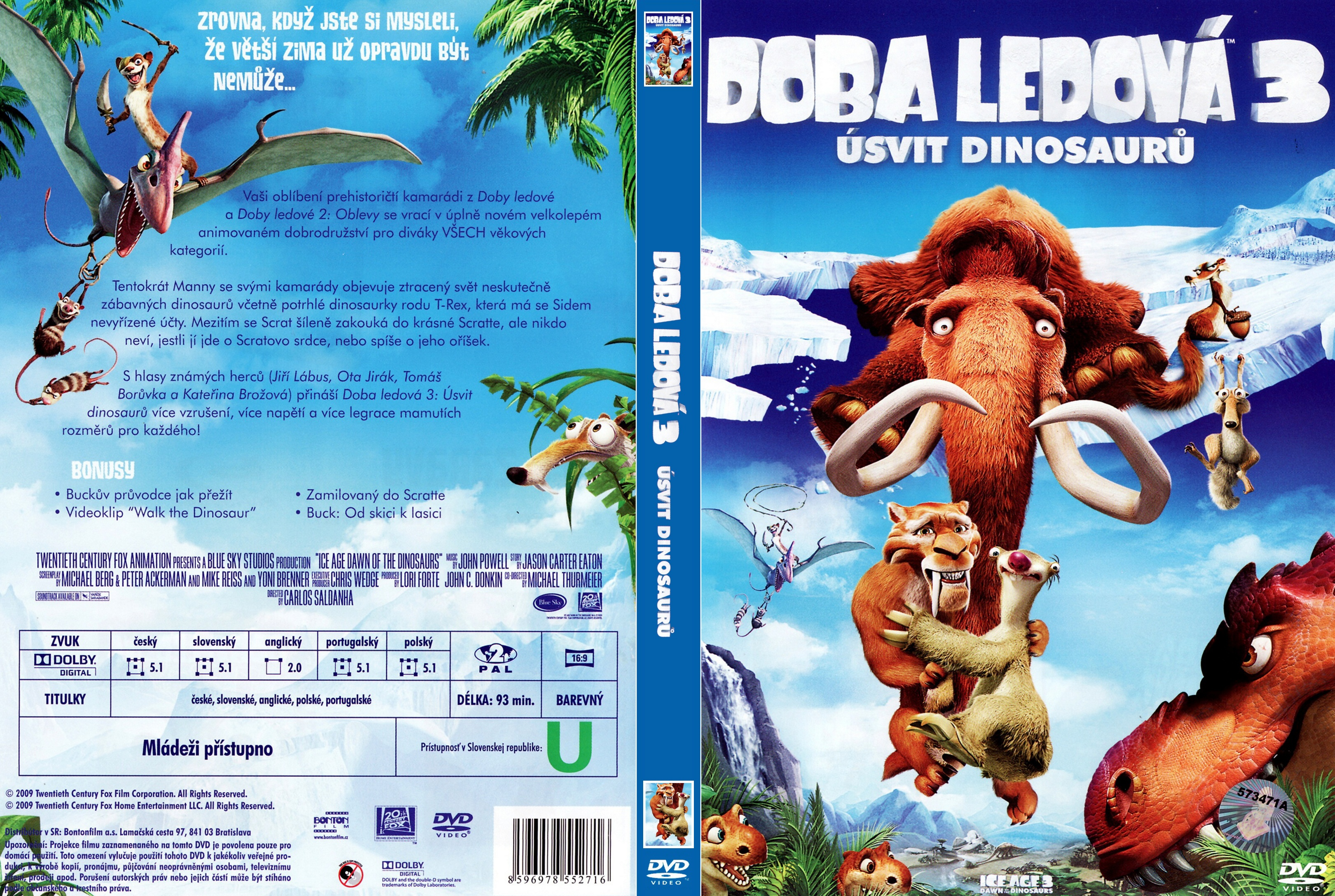Covers Box Sk Ice Age Dawn Of The Dinosaurs 2009 High Quality Dvd Blueray Movie