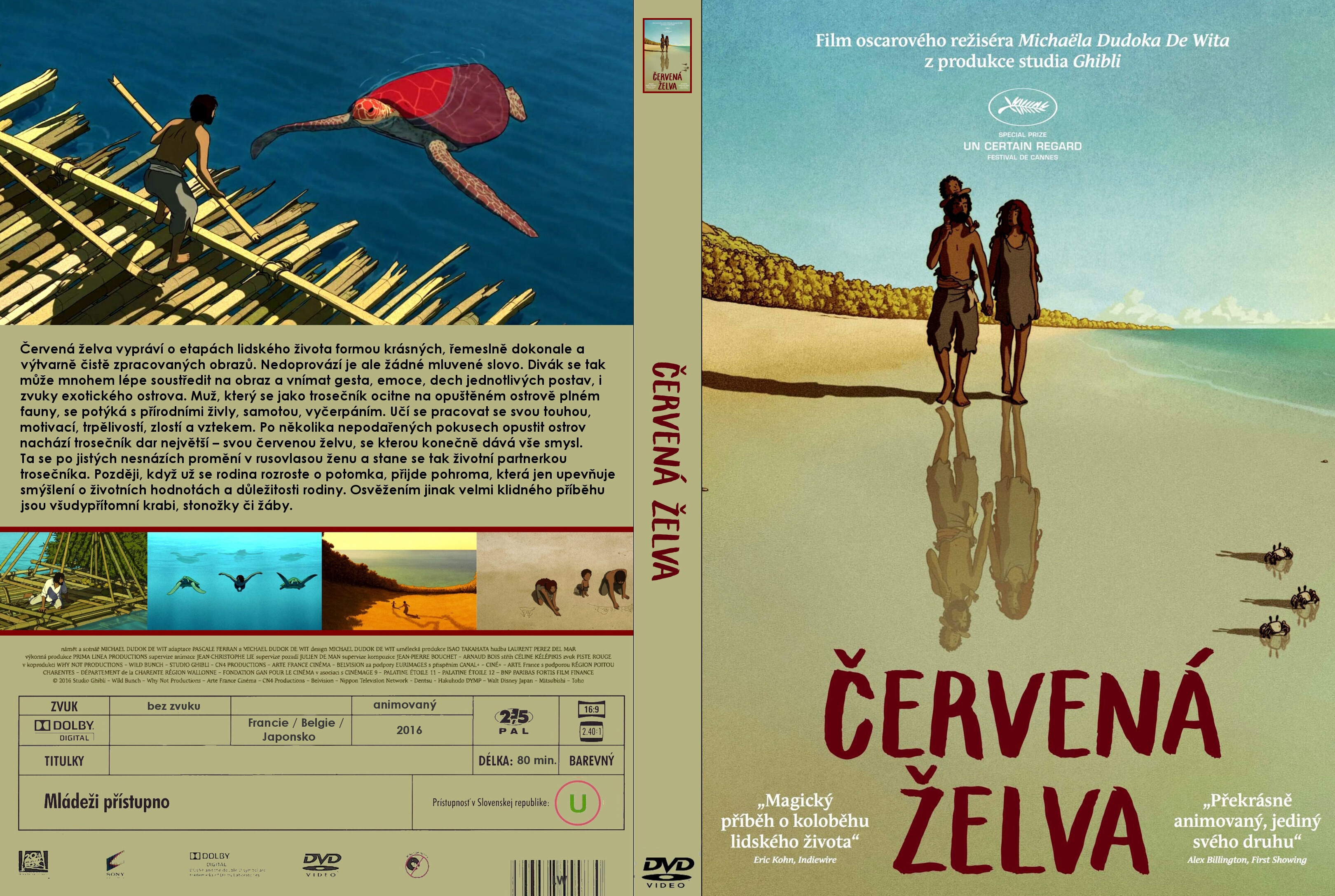 Covers Box Sk The Red Turtle 2016 High Quality Dvd Blueray Movie