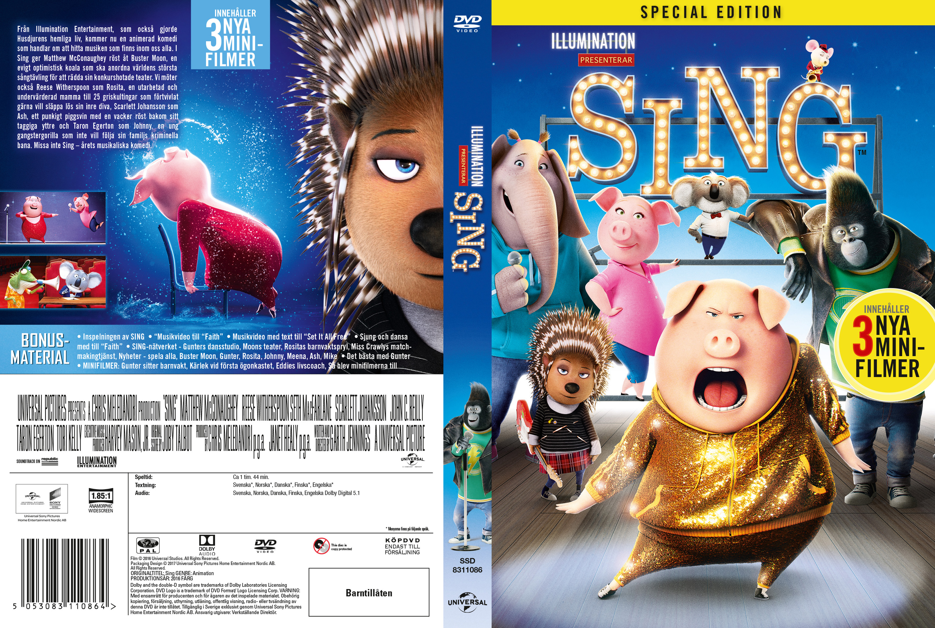 Covers Box Sk Sing 2016 High Quality Dvd Blueray Movie