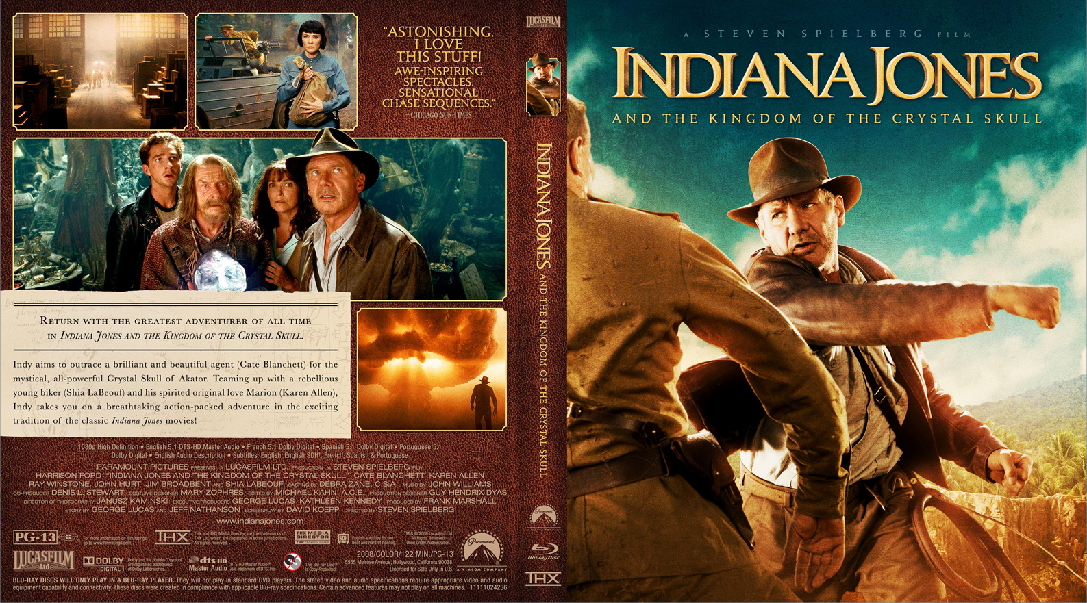 Covers Box Sk Indiana Jones And The Kingdom Of The Crystal Skull 2008 High Quality Dvd Blueray Movie