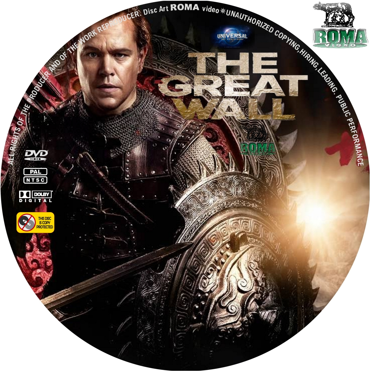 Covers Box Sk The Great Wall 2016 High Quality Dvd Blueray Movie