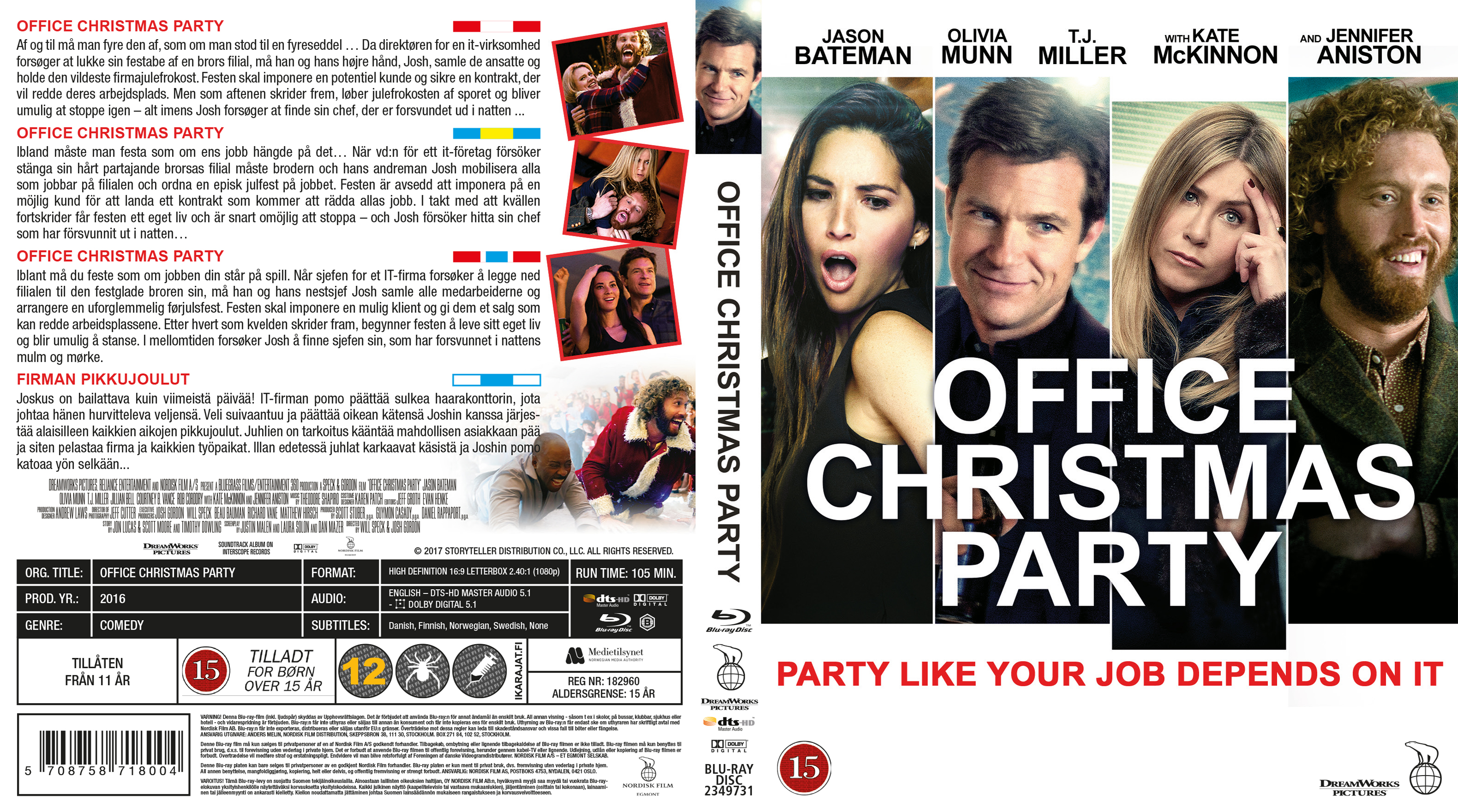 COVERS.BOX.SK ::: Office Christmas Party - Blu-Ray - Nordic (2016 ...