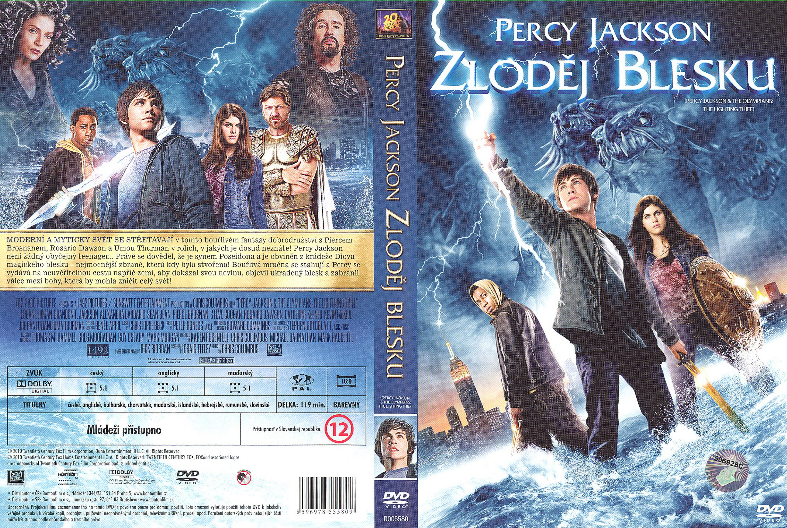 Covers Box Sk Percy Jackson And The Lightning Thief 2010 High Quality Dvd Blueray Movie